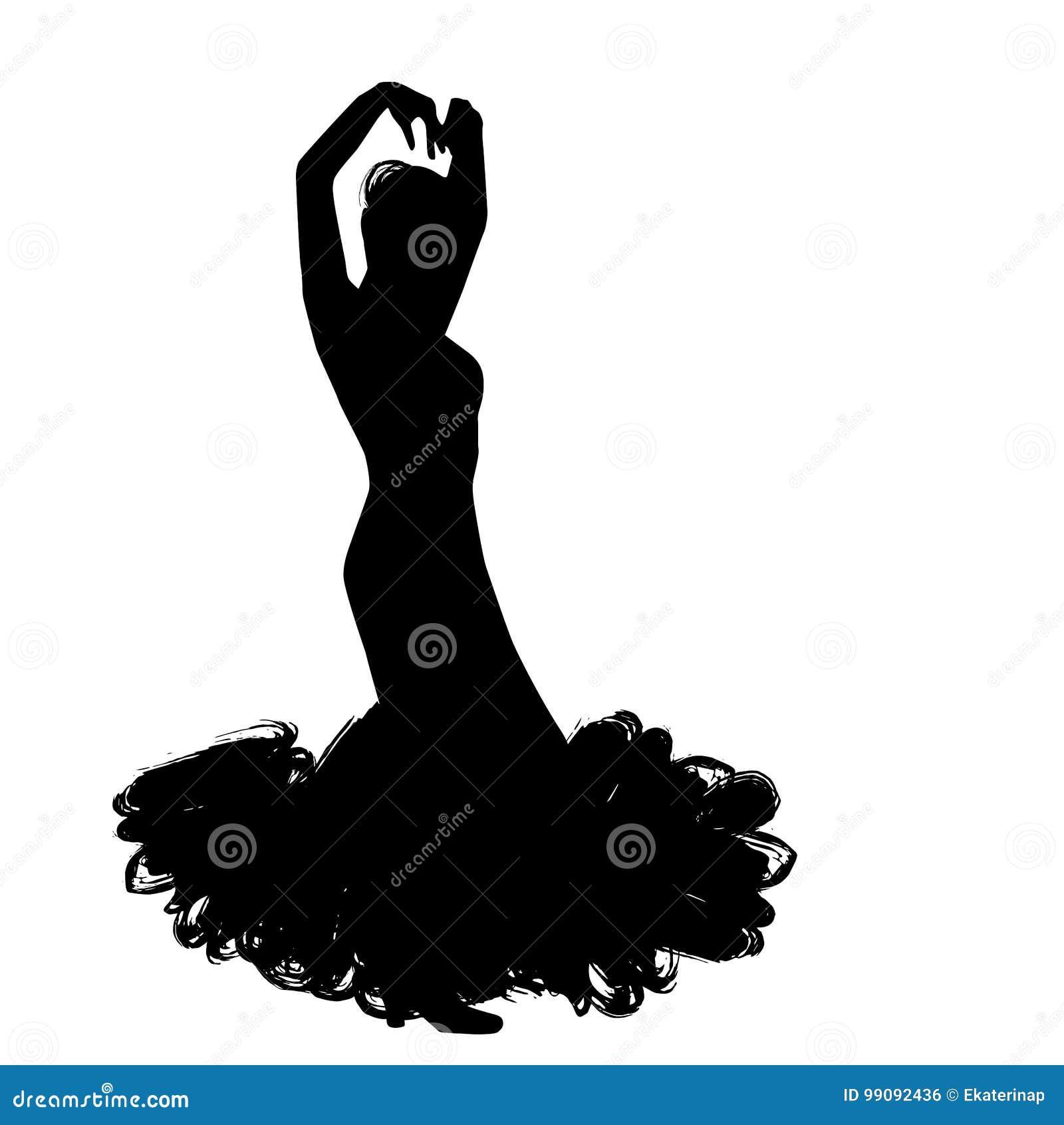 Donna Nel Soggiorno Lungo Del Vestito Nella Posa Di Dancing ...