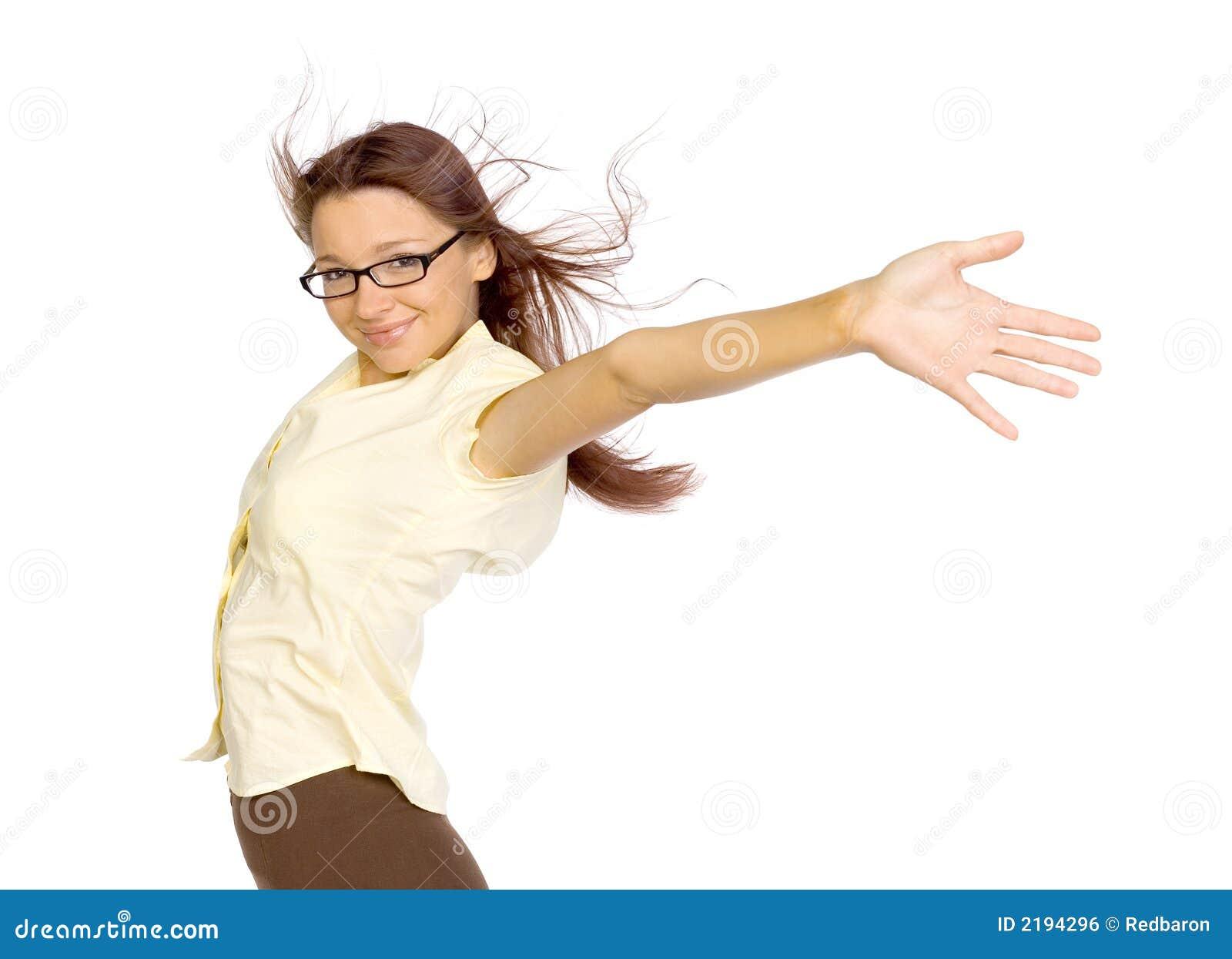 Donna nel vento