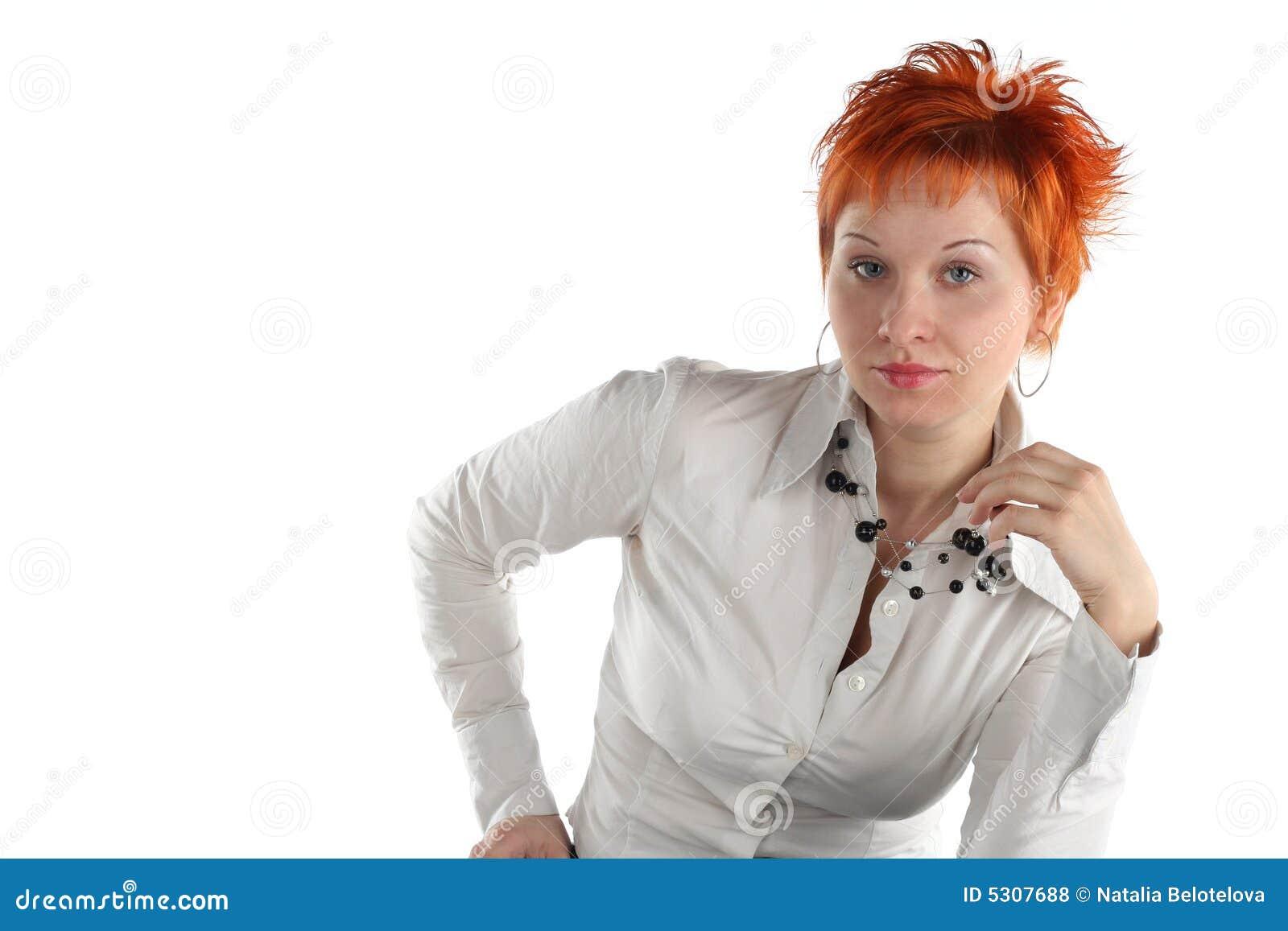 Download Donna seria di affari fotografia stock. Immagine di attraente - 5307688