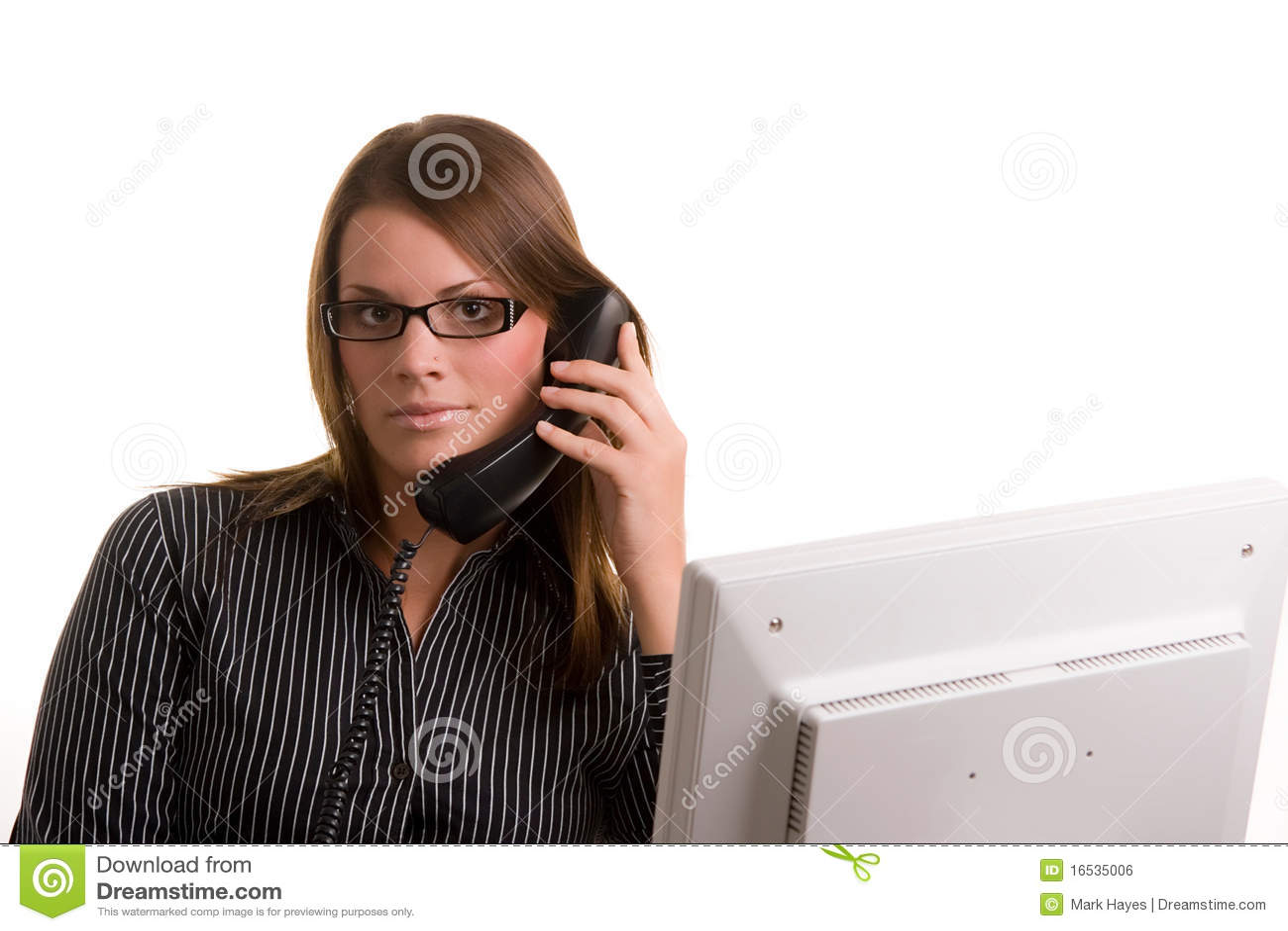 Stock libera da diritti donna sul telefono con il calcolatore