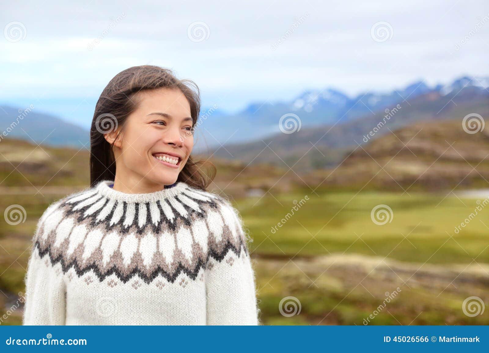 Sull'islanda Stock Islandese Maglione In Donna Fotografia Immagine HSqTC