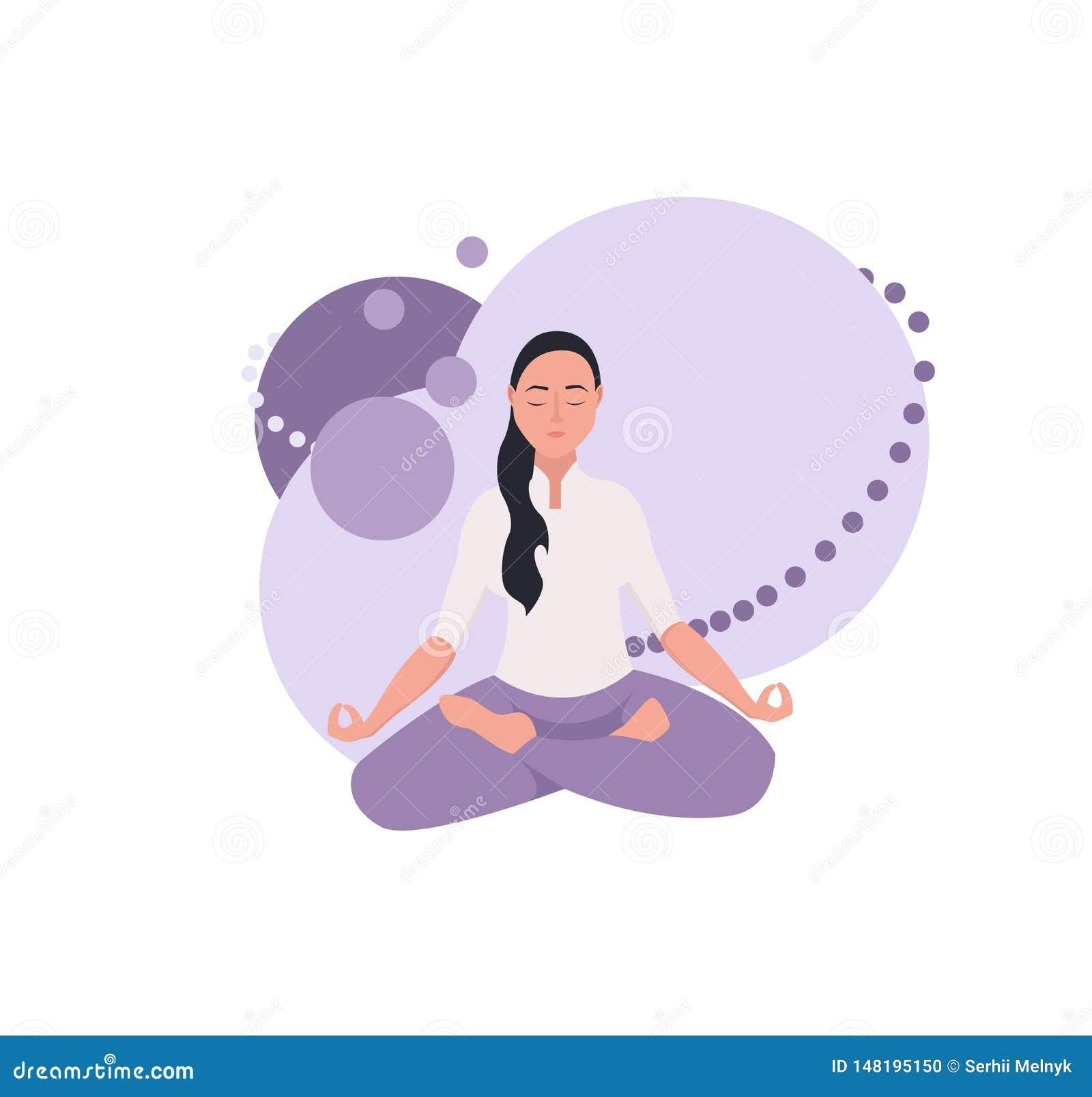 Donna sulla meditazione