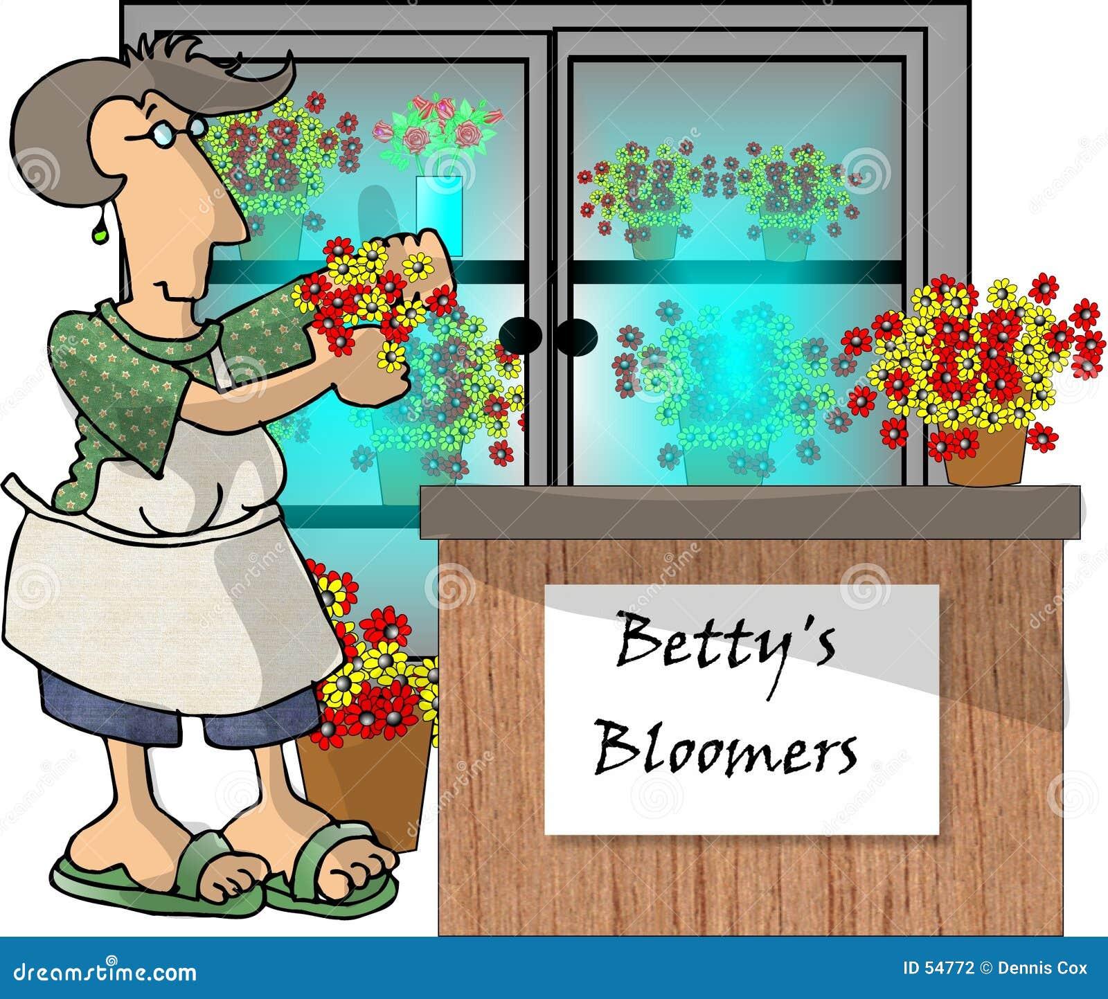 Donna in un negozio di fiore
