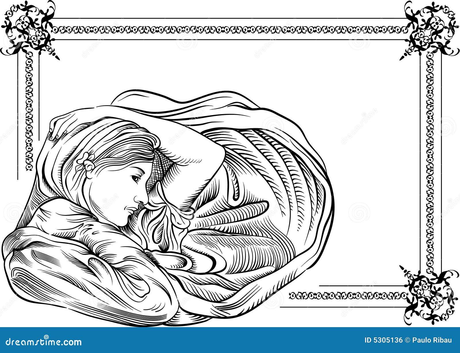 Download Donne illustrazione vettoriale. Illustrazione di distendasi - 5305136