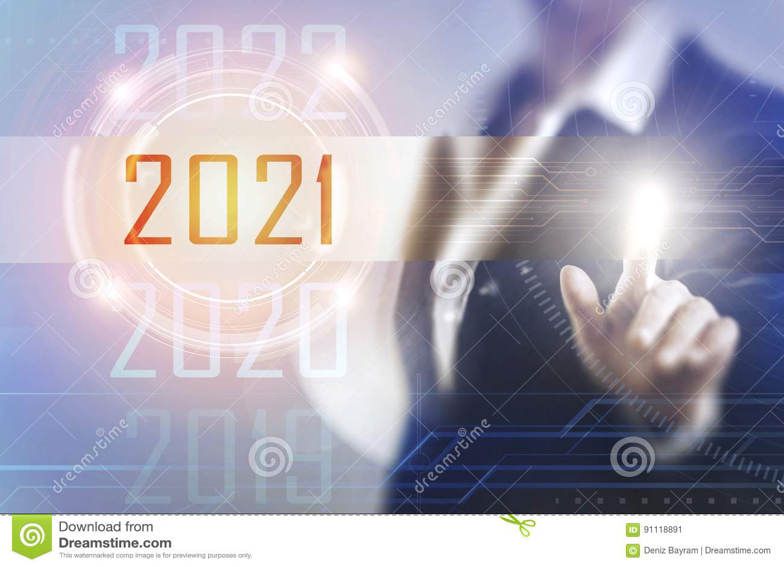 Donne di affari che toccano lo schermo 2021