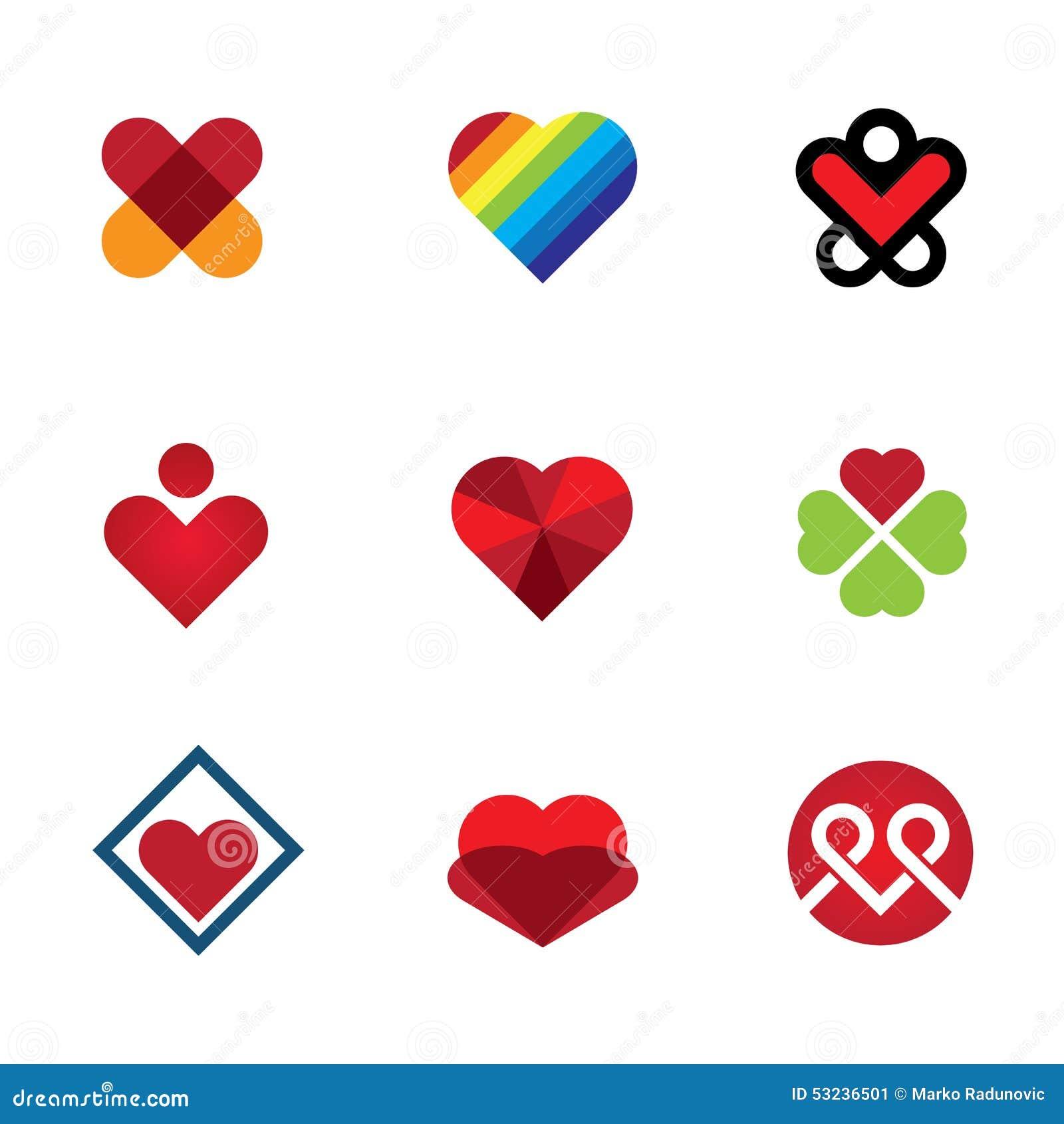 Donnez à amour le cadeau spécial icône rouge de logo de symbole de coeur