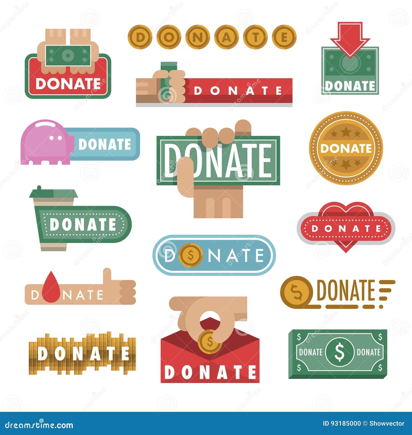 Donnez le cadeau de symboles et de site Web de mains de philanthropie de charité de contribution de donation d icône d aide d ill