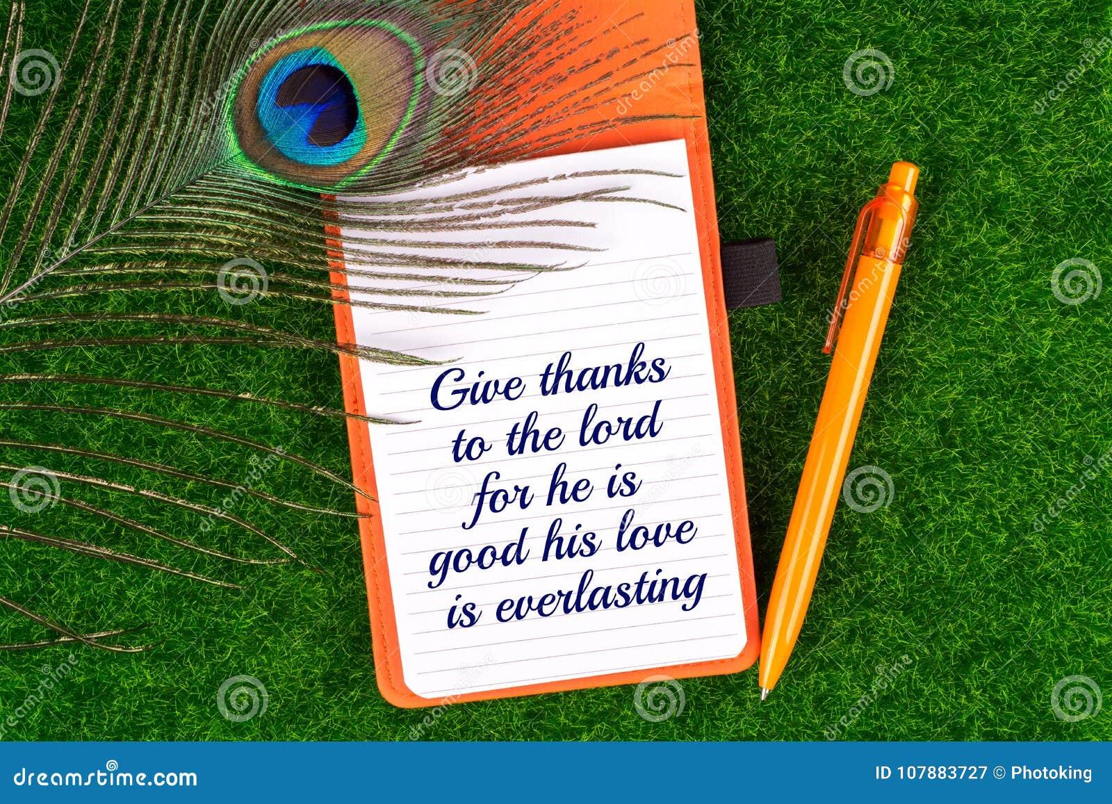 Donnez les mercis au seigneur