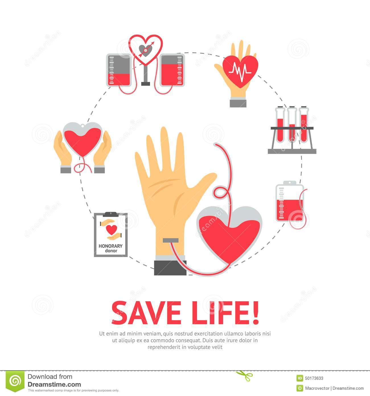 Donor flat concept stock vector image of donation design 50173633 for Blood bank planning and designing