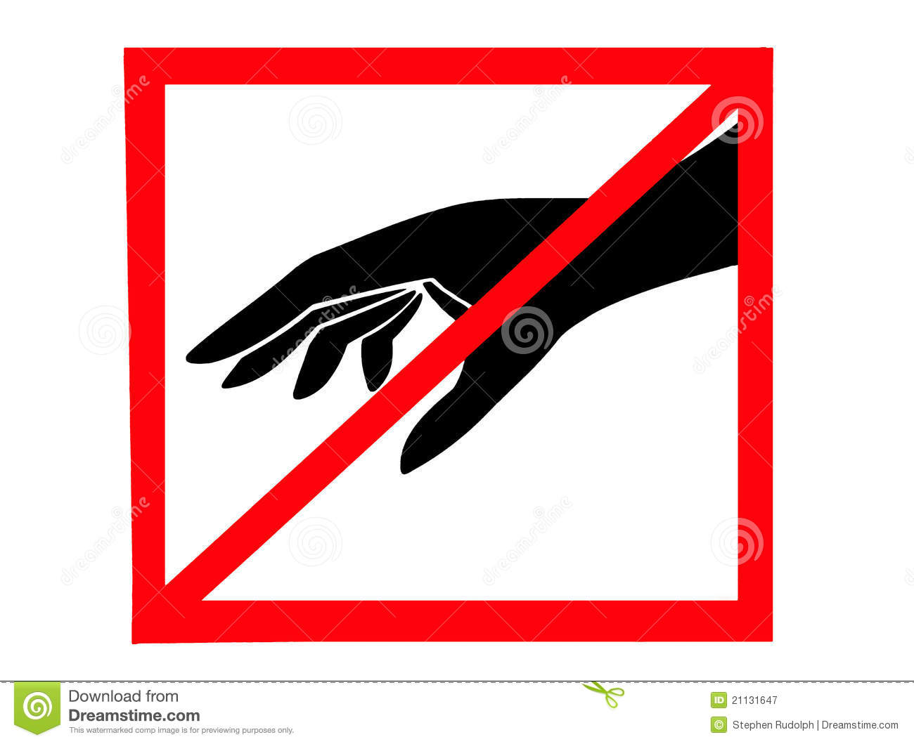 dont touch stock image image of pictogram prevent