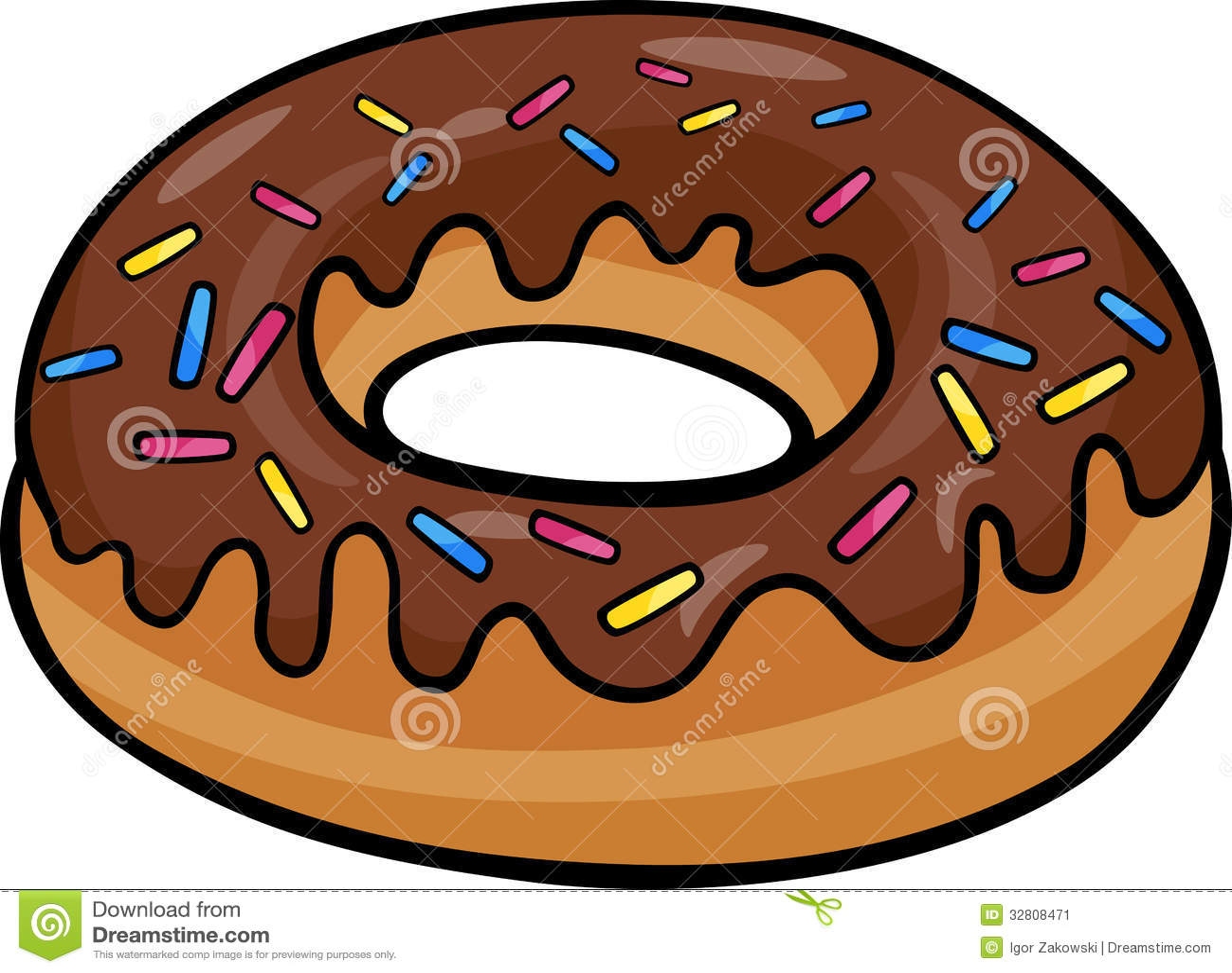 Donut Clip Art Cartoon Illustration Stock Image