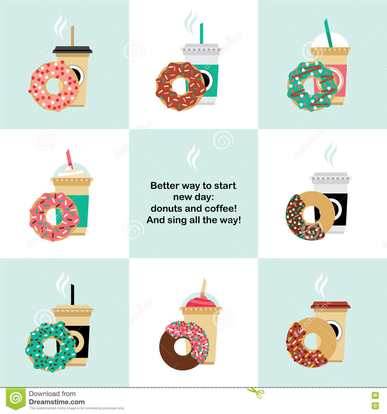 Donut and coffe set