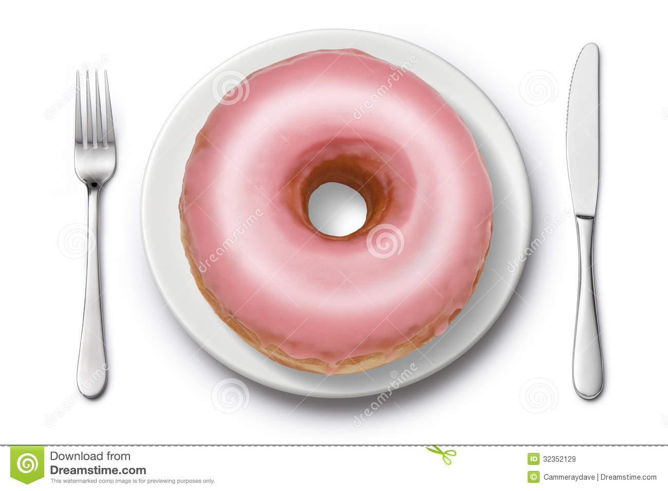 Unhealthy Food Plate Donut Diet Junk Food