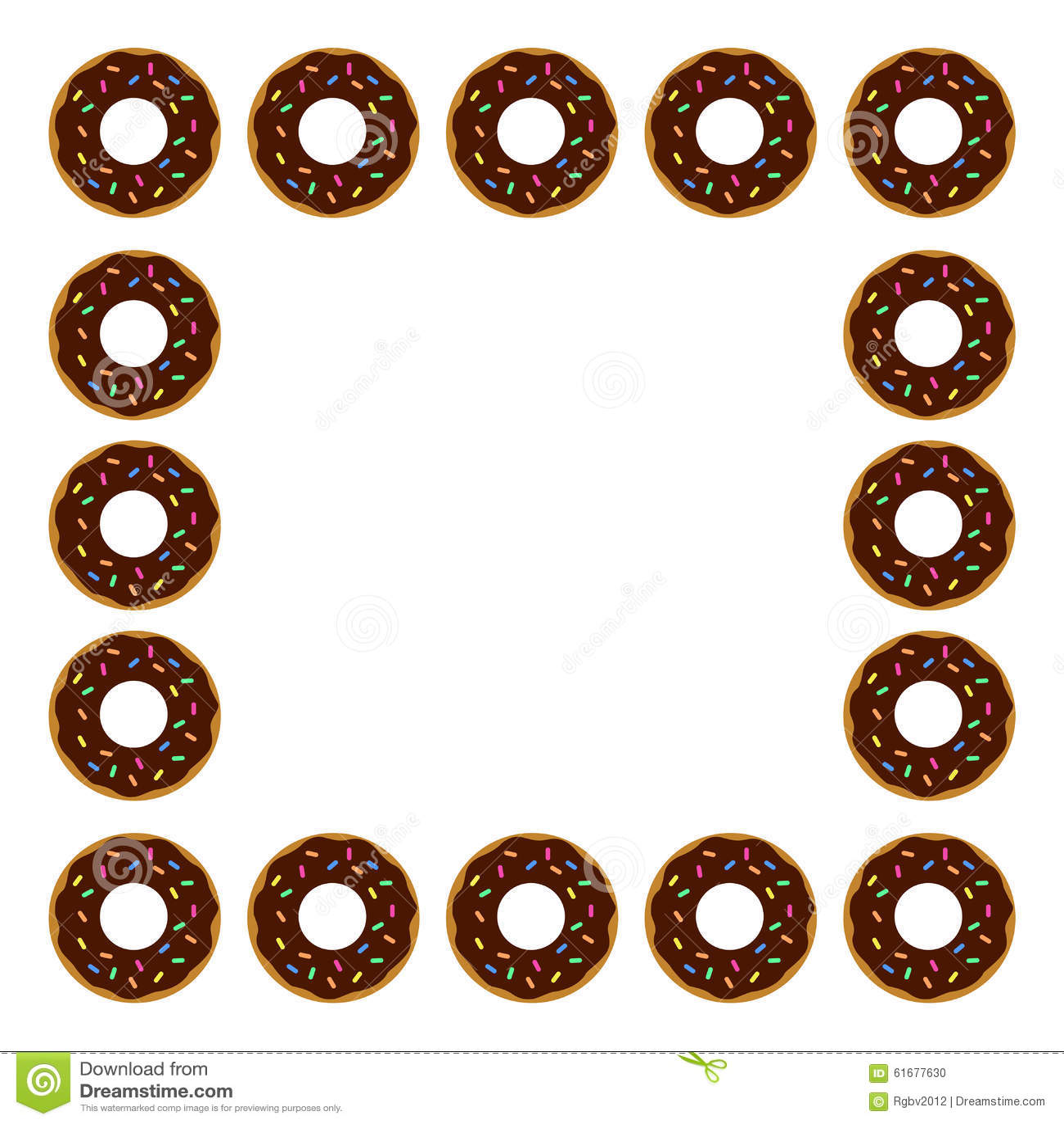 Donut Frame Stock Photo Image 61677630