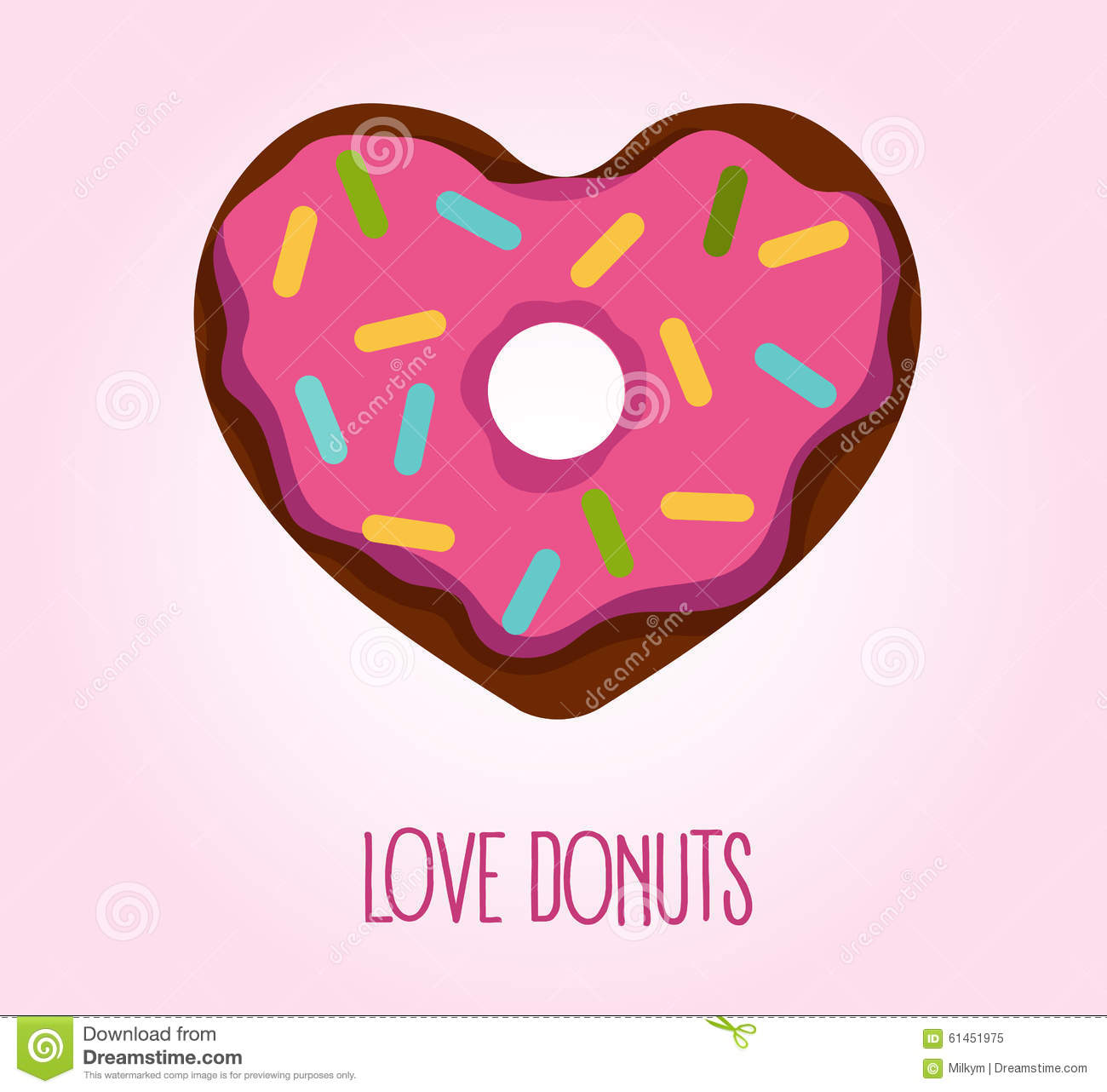 donut in heart shape stock vector illustration of cupcake Cupcake Character Clip Art Free Download Birthday Cupcake Clip Art