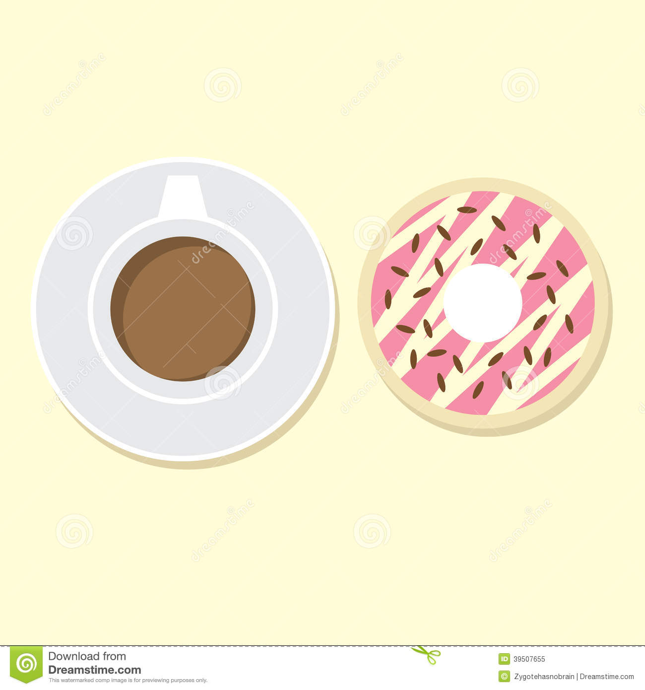 Donut And Hot Coffee