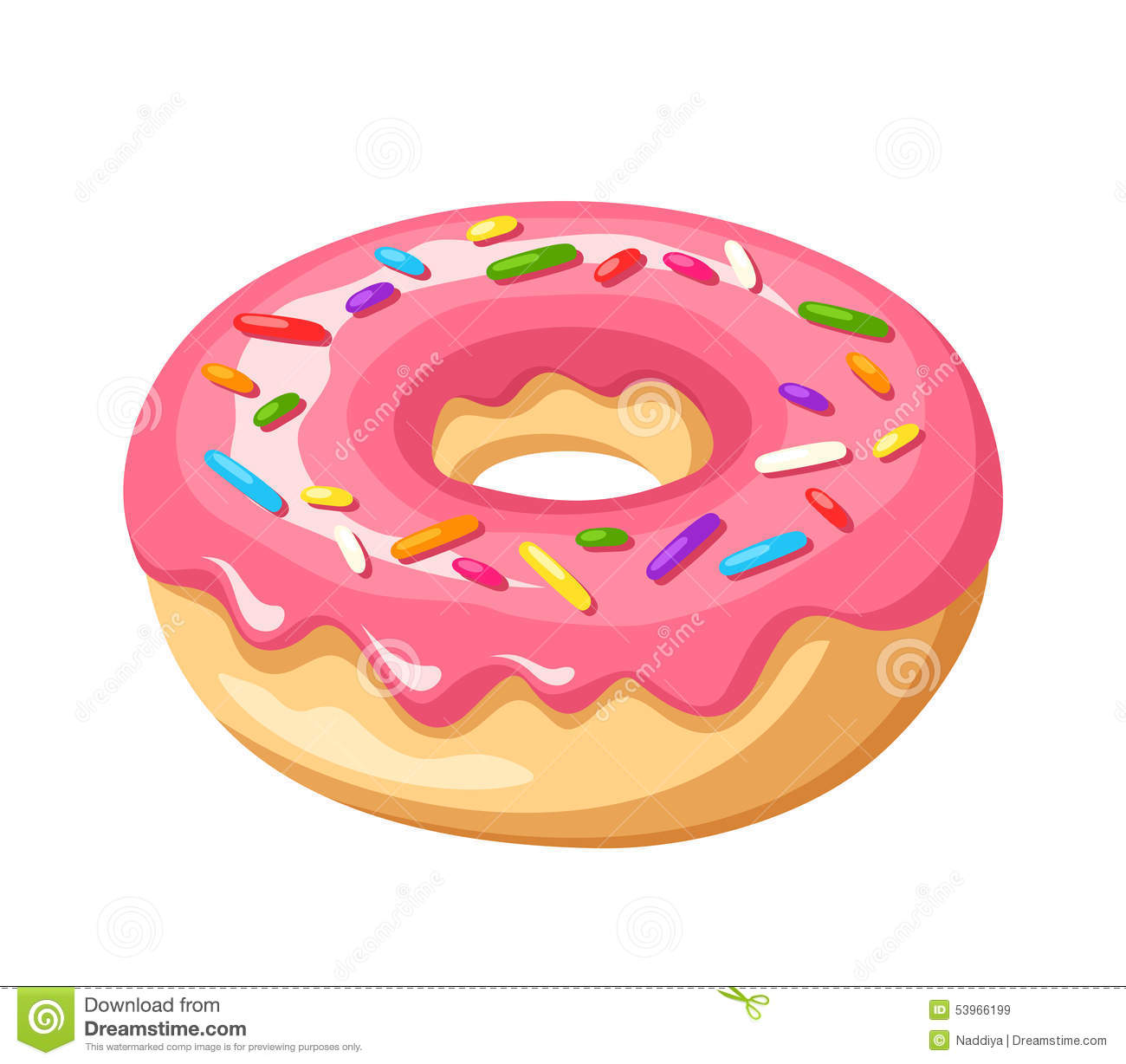 Pink Donuts With Sprinkles Clipart