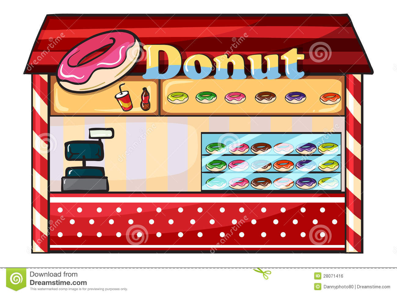 A Donut Shop Royalty Free Stock Image Image 28071416