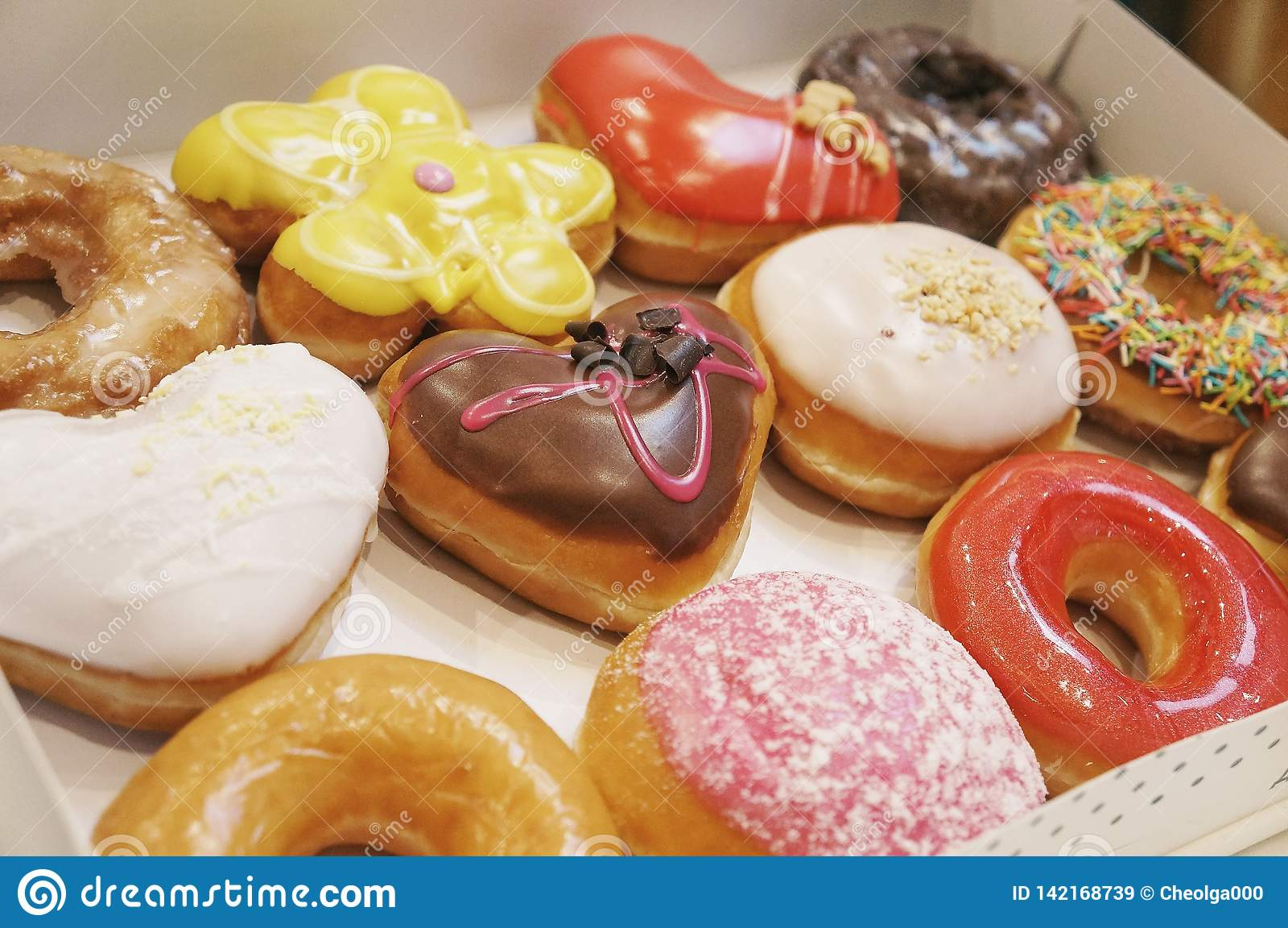 Donuts in the box