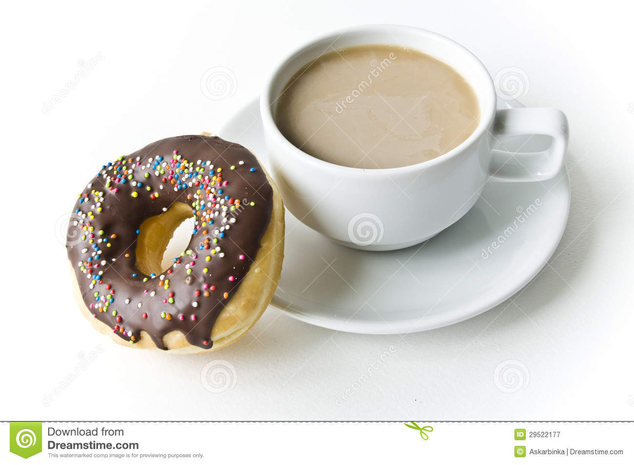 Donuts And Coffee Cup Royalty Free Stock Photography - Image: 29522177