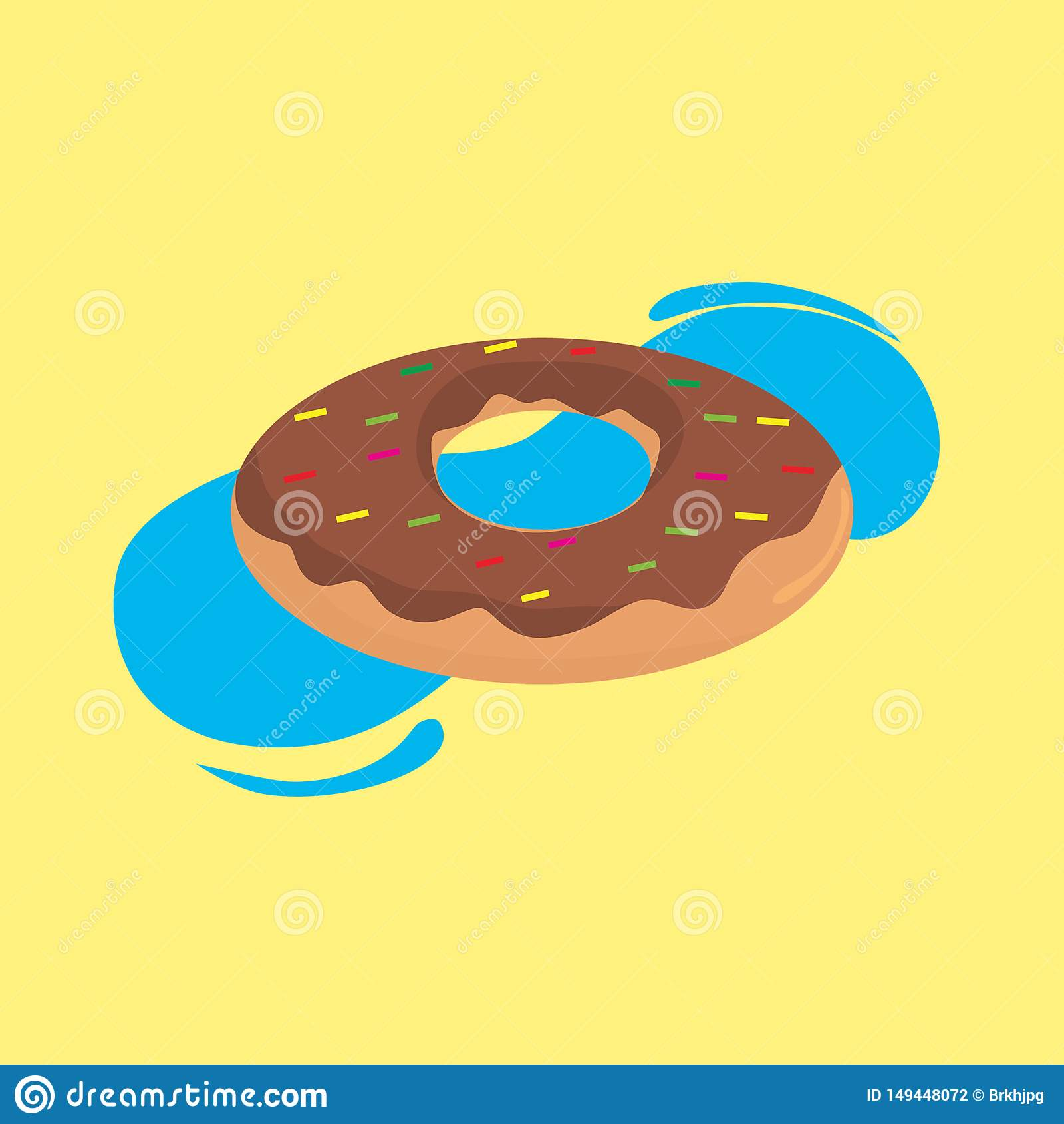 Donuts f?r sommarmatmodell