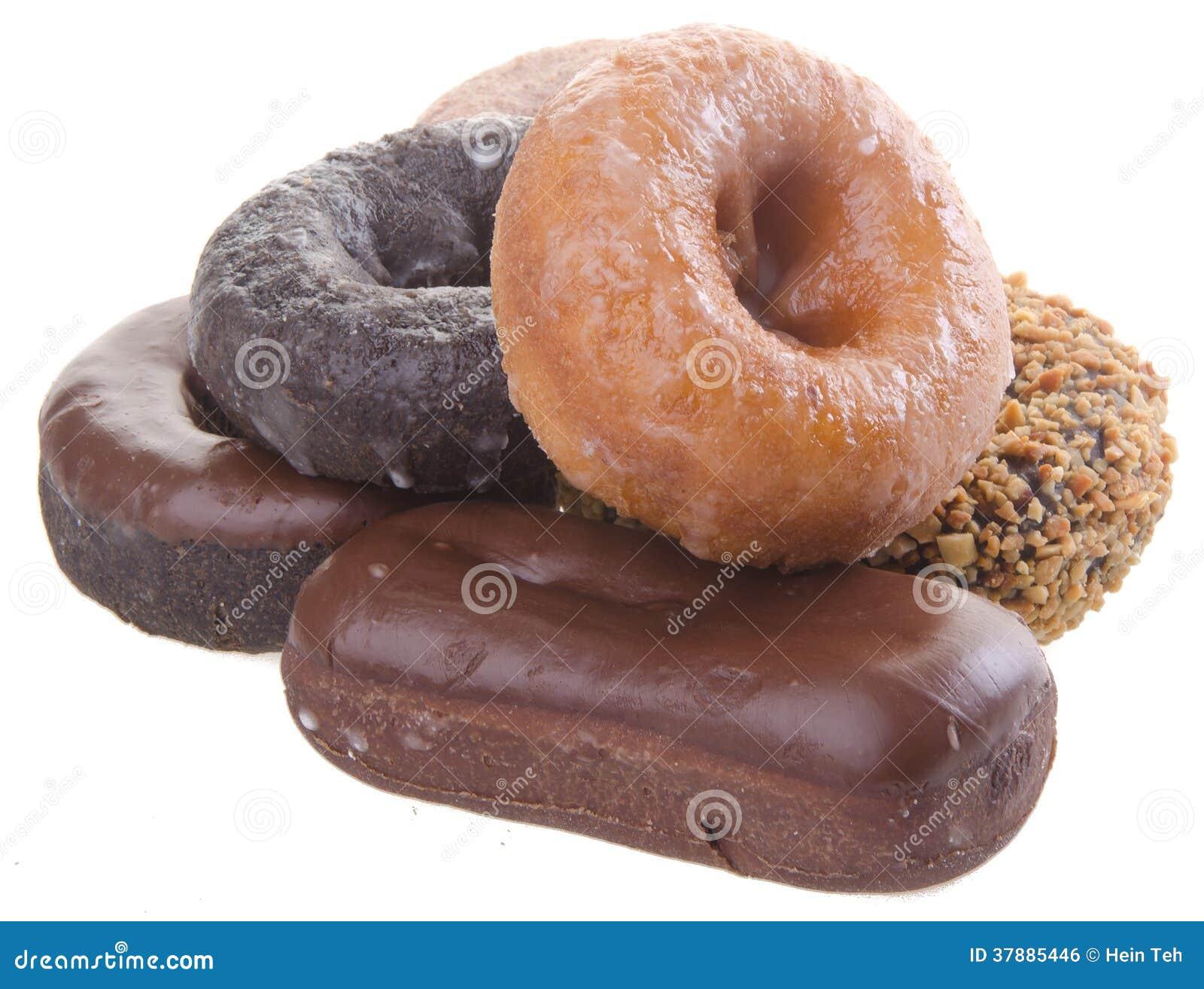 Donuts heerlijke en zoete donuts op achtergrond