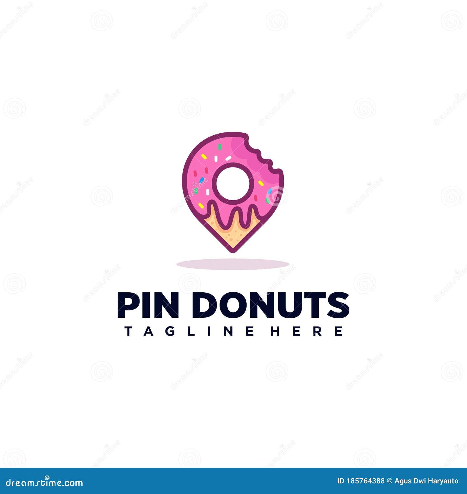 Donuts Logo Design Inspiration / Pin Creative Icon Stock Vector ...