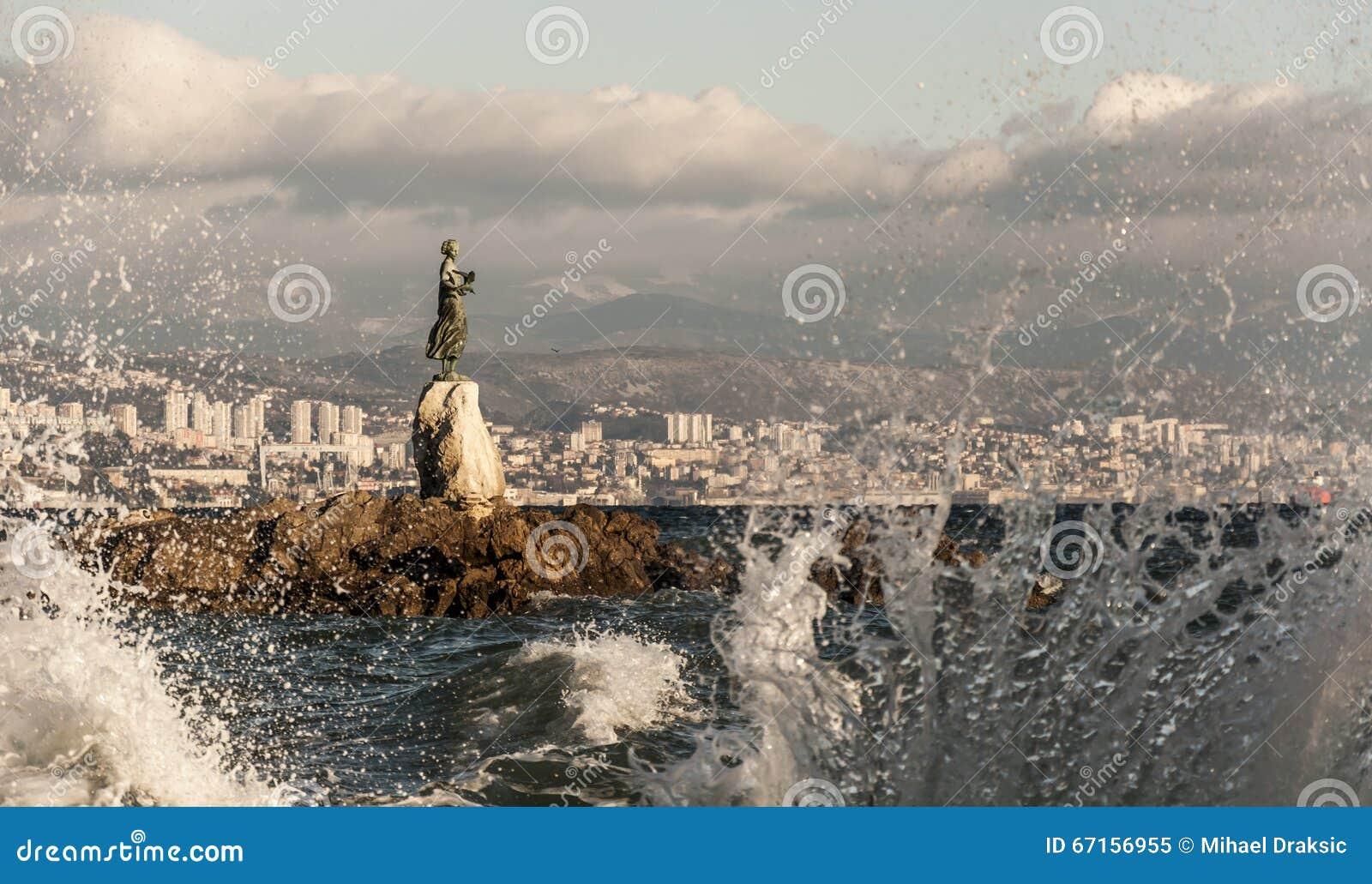 Donzela com a gaivota