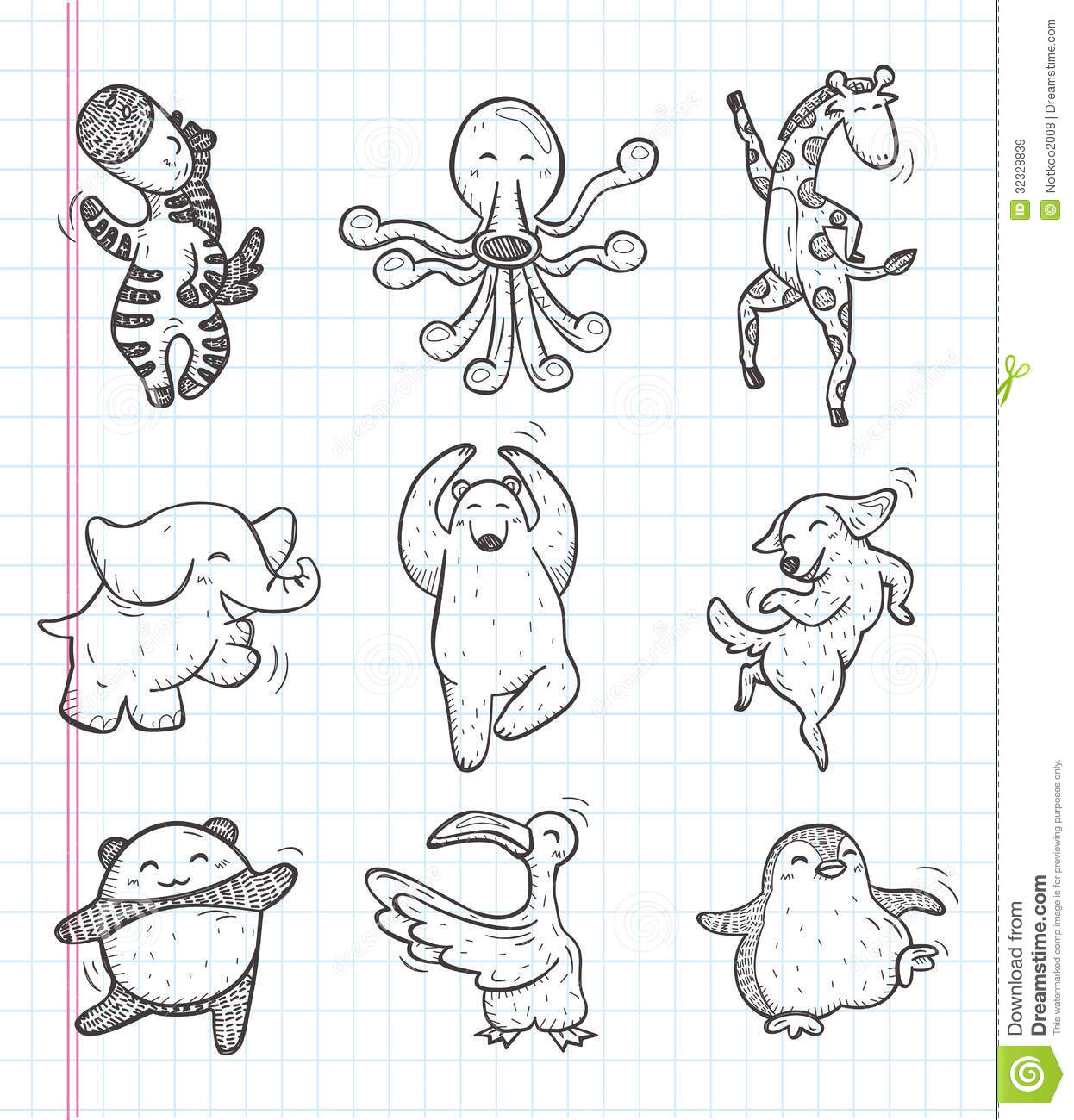 easy cute cartoon doodles