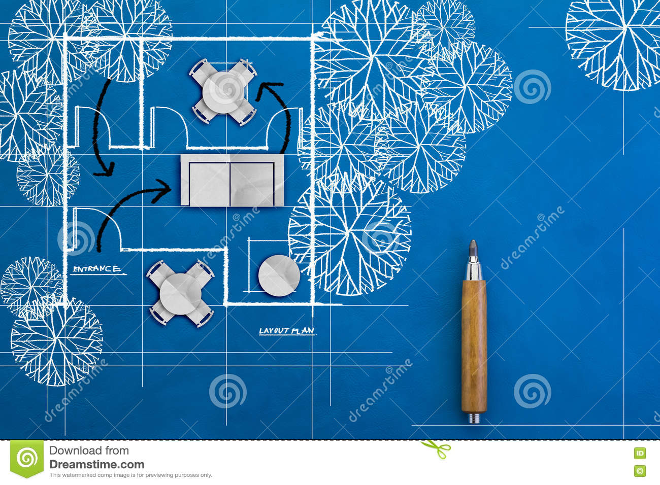Architecture blueprints Modern Home Doodle Of Architecture Blueprints And House Plans Visualizing Architecture Doodle Of Architecture Blueprints And House Plans Stock Image