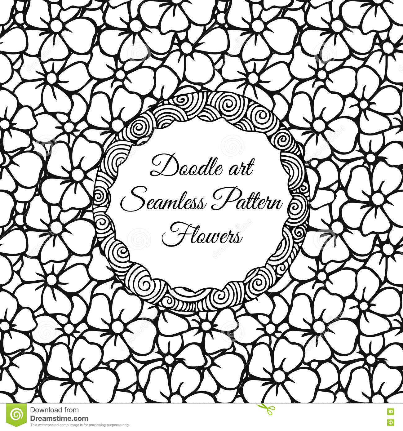 Abstract Seamless Pattern With Flowers Stock Photos