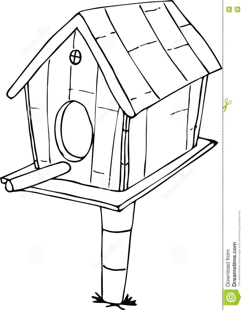 Royalty Free Vector Download Doodle Bird House