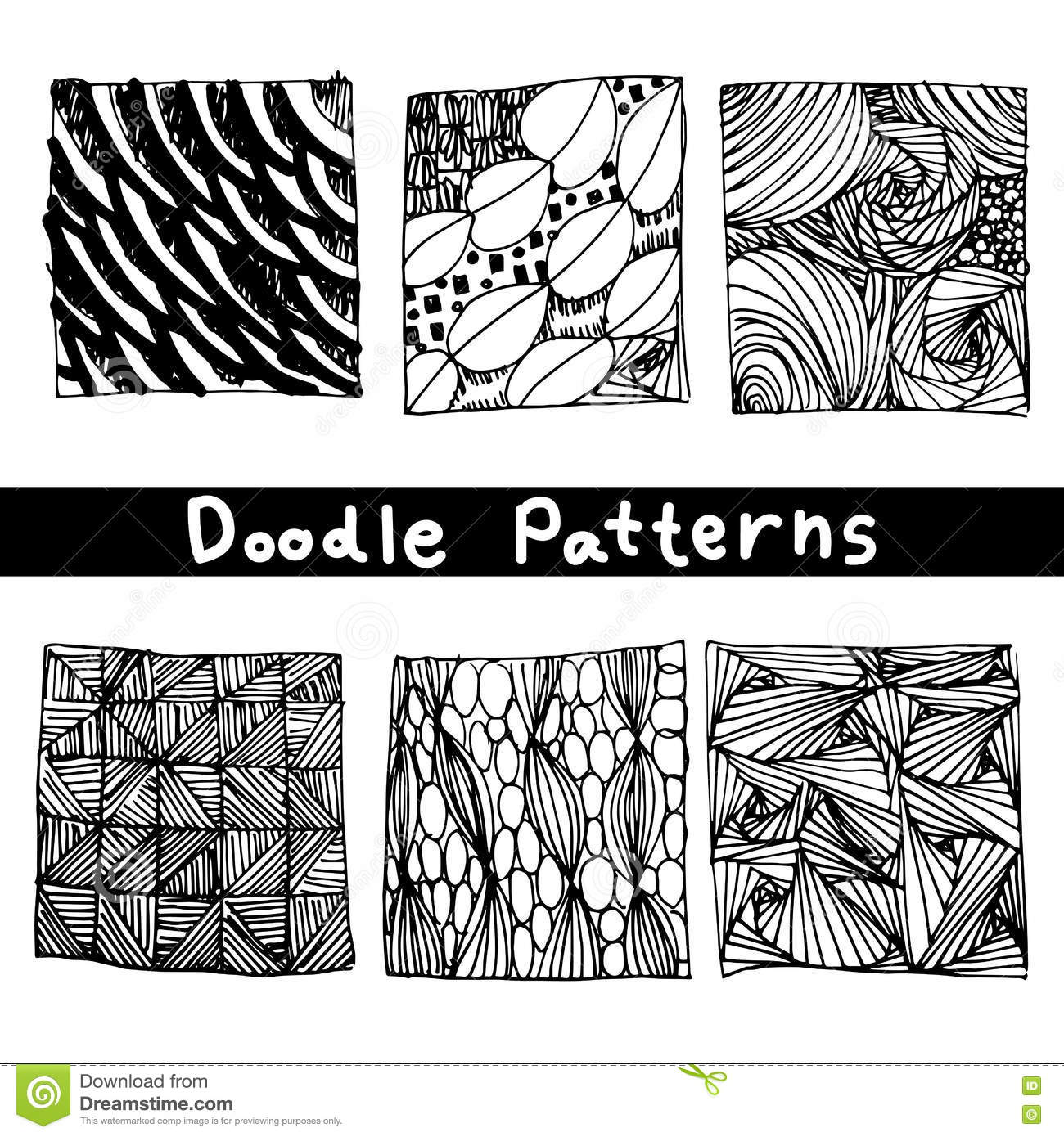 Basic Design Line : Doodle black line pattern background designs the art of
