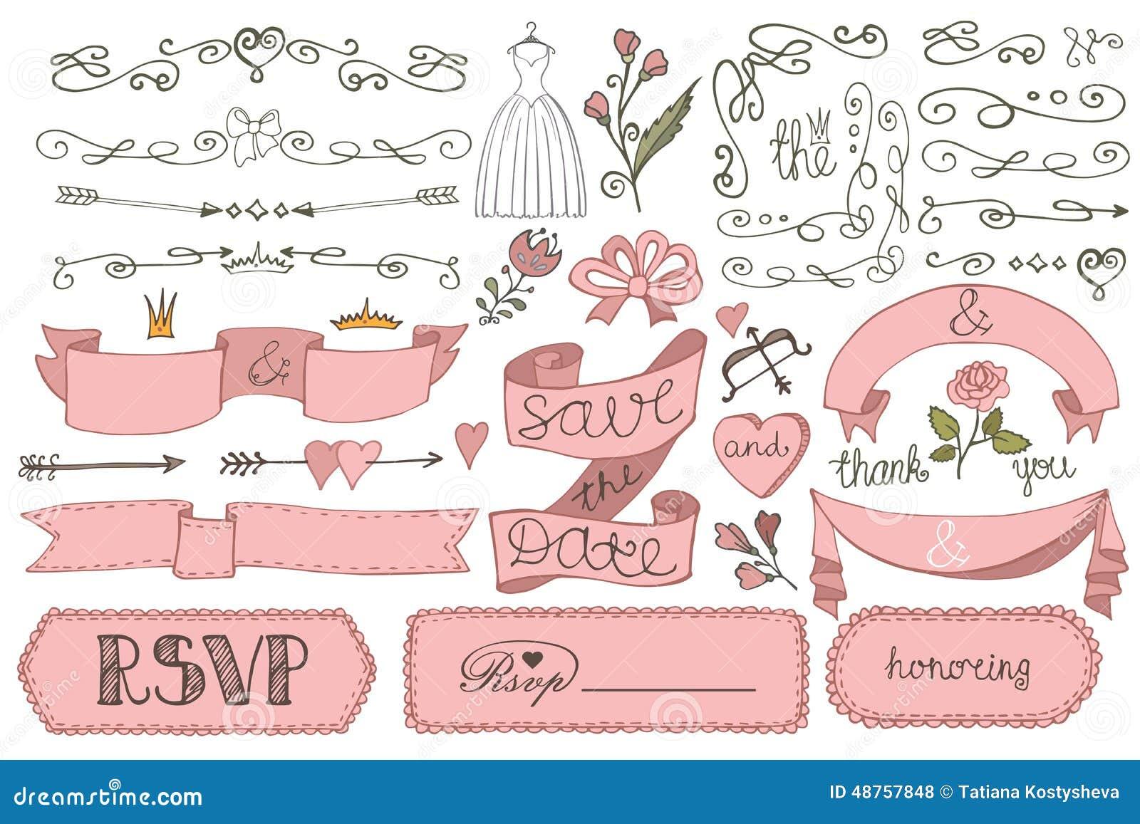 Ribbon Wedding Invitation with perfect invitation sample