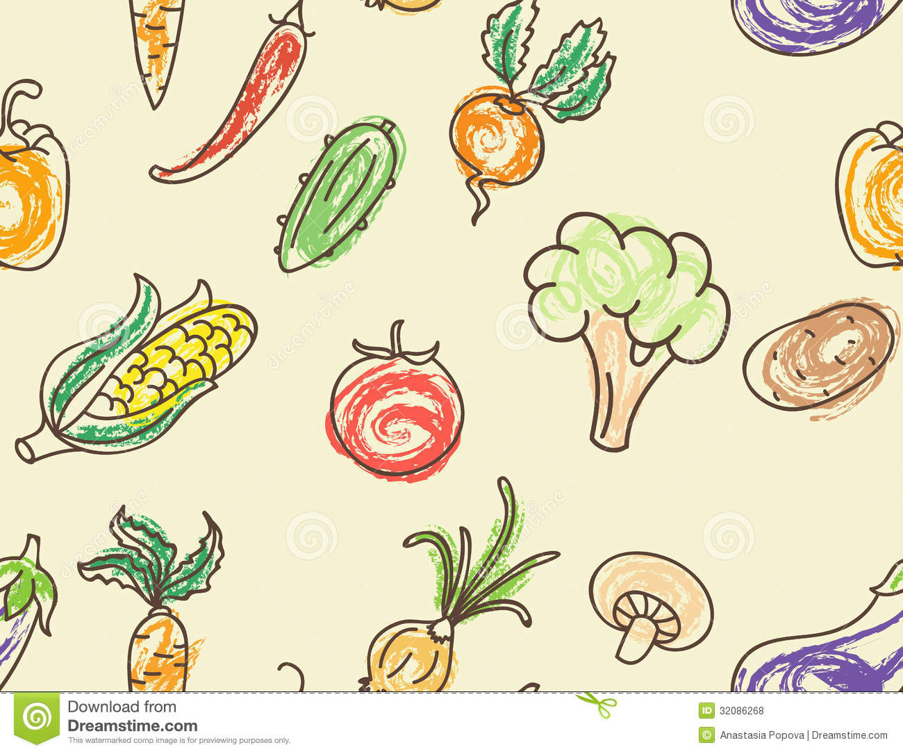 Vegetable pattern - photo#14