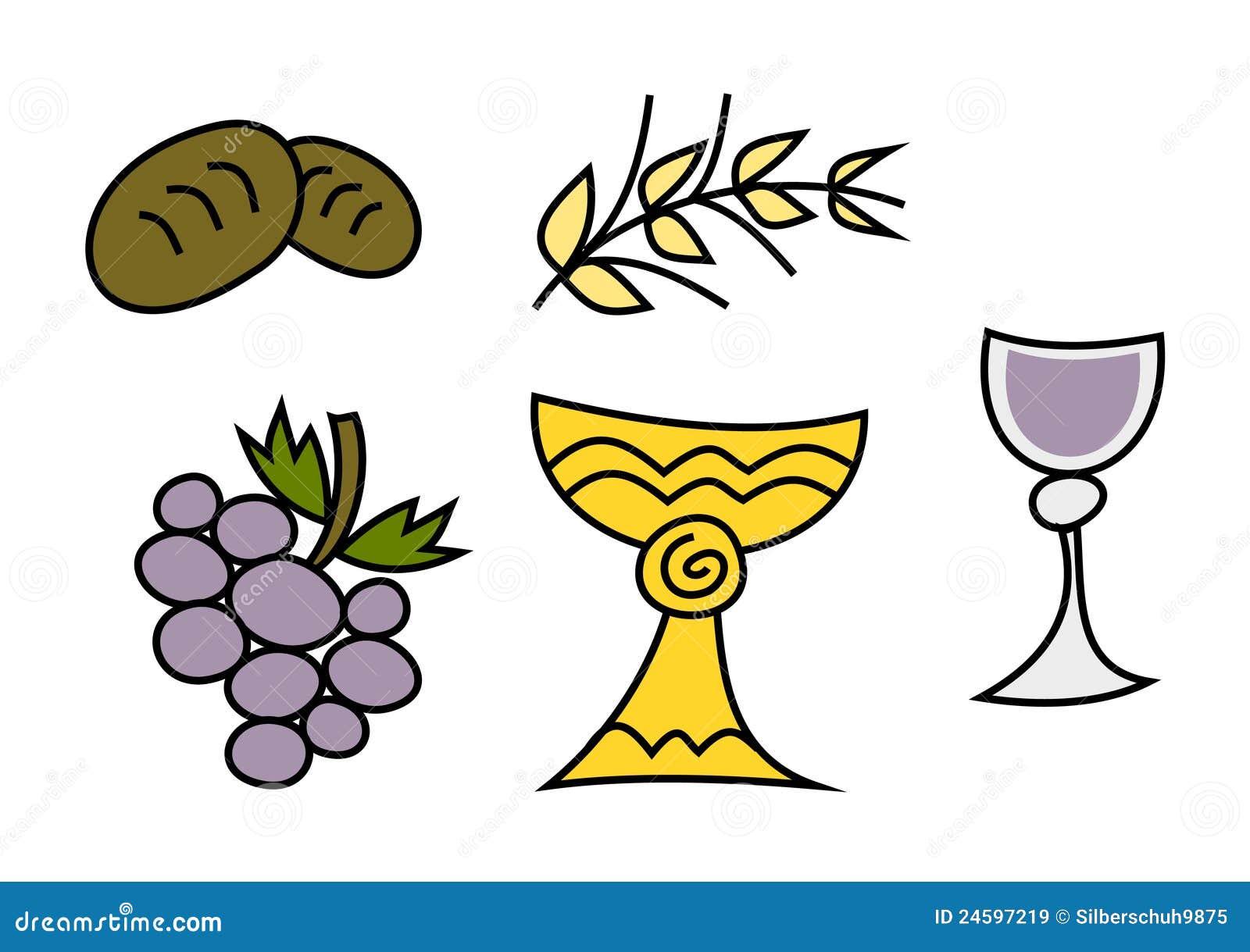 Doodle colorido fijado: Símbolos religiosos