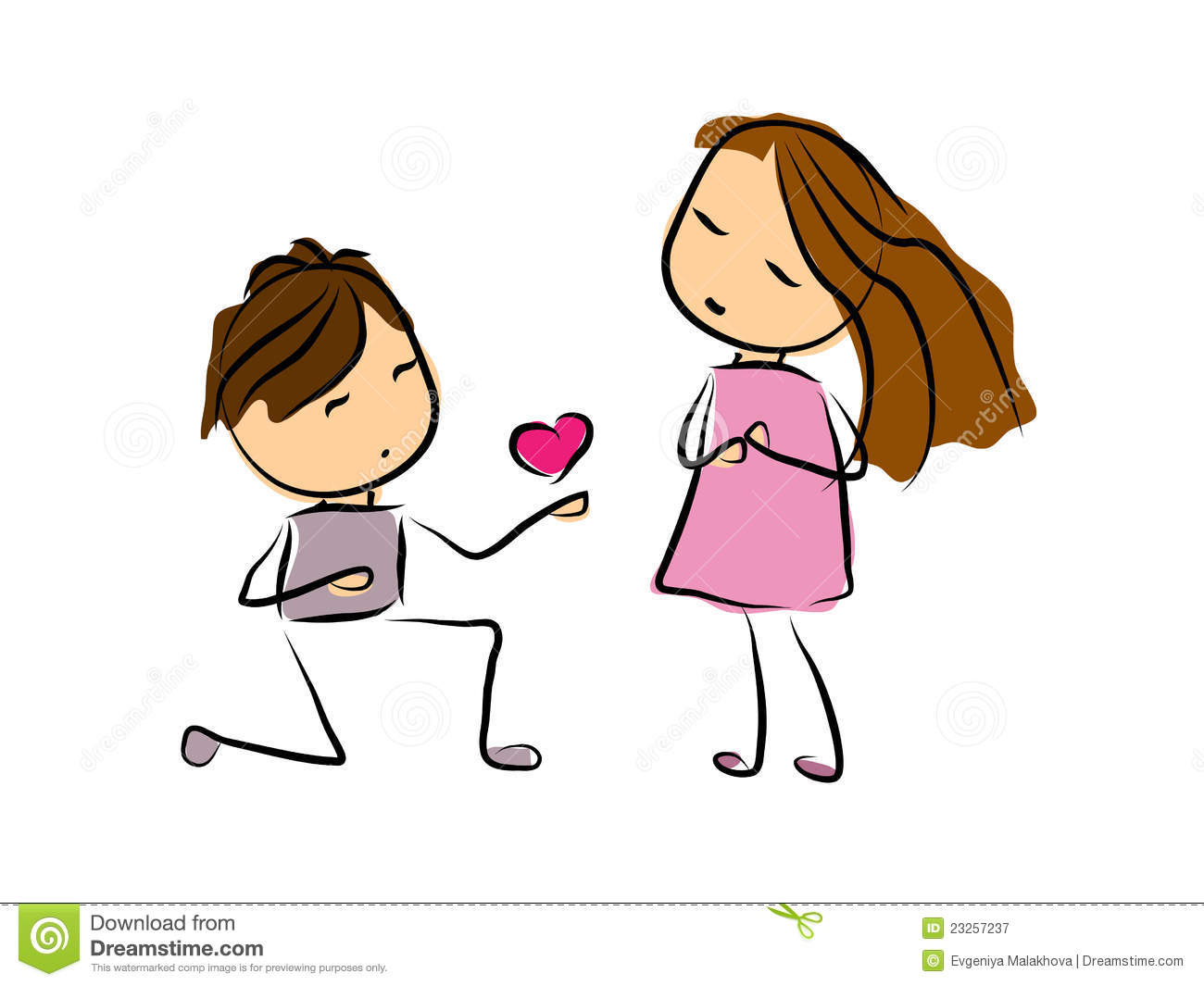 Doodle Couple Royalty Free Stock Photography - Image: 23257237