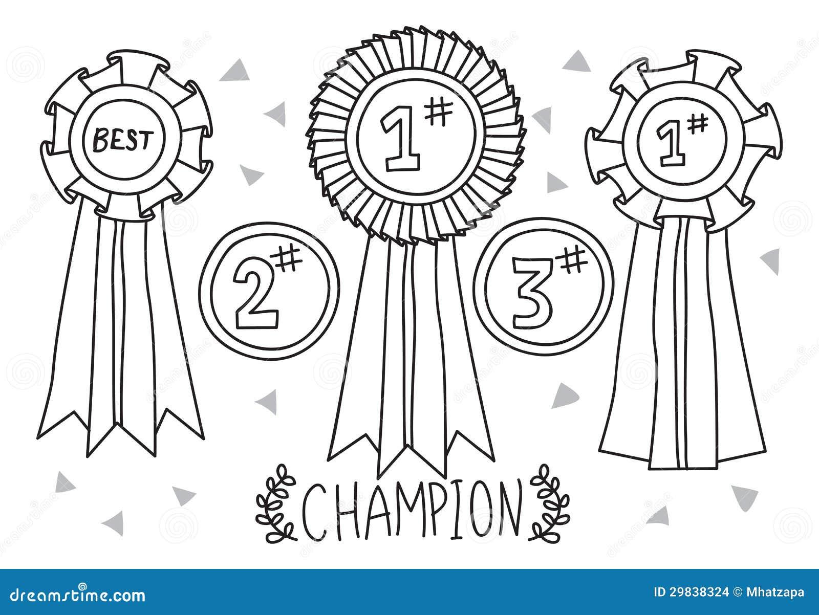 Doodle da concessão do campeão