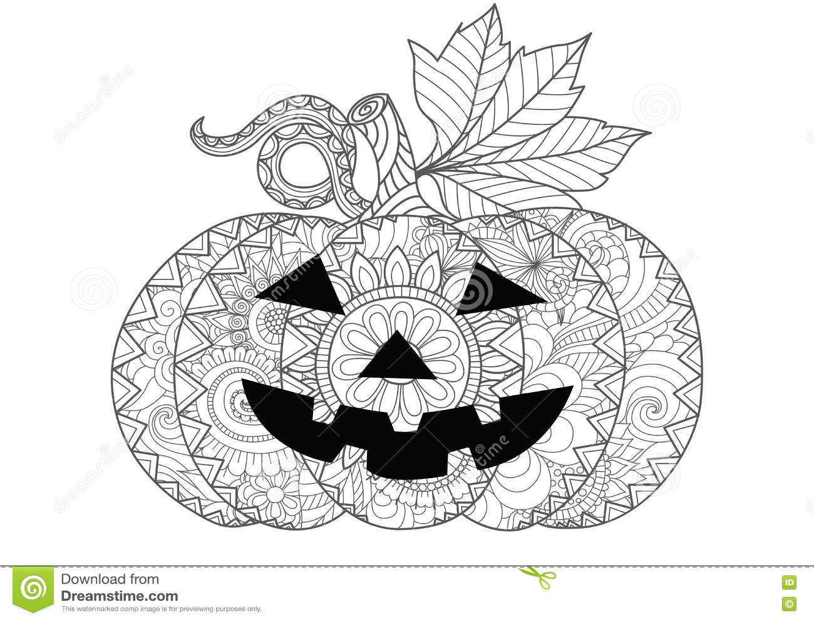 Doodle Design Of Halloween Pumpkin For Halloween Card Invitations ...