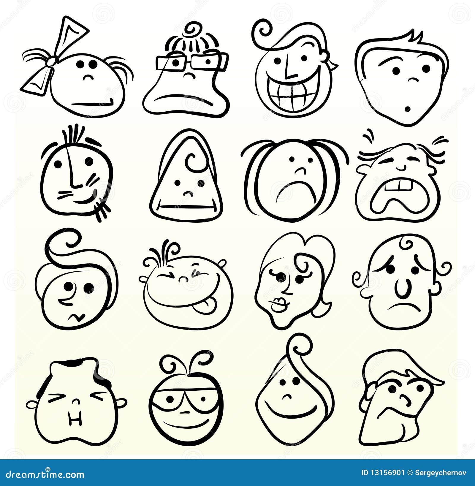 Doodle Emotion Art Stock Image - Image: 13156901