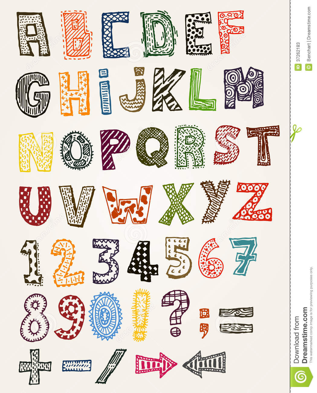 Doodle Fancy ABC Alphabet Stock Photos - Image: 37262183