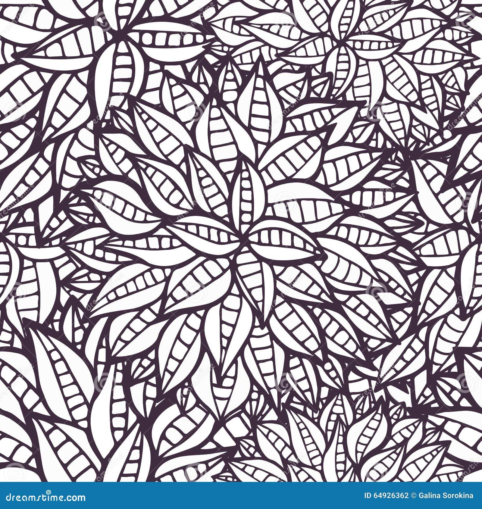 ornamental doodle floral pattern design for pocket square
