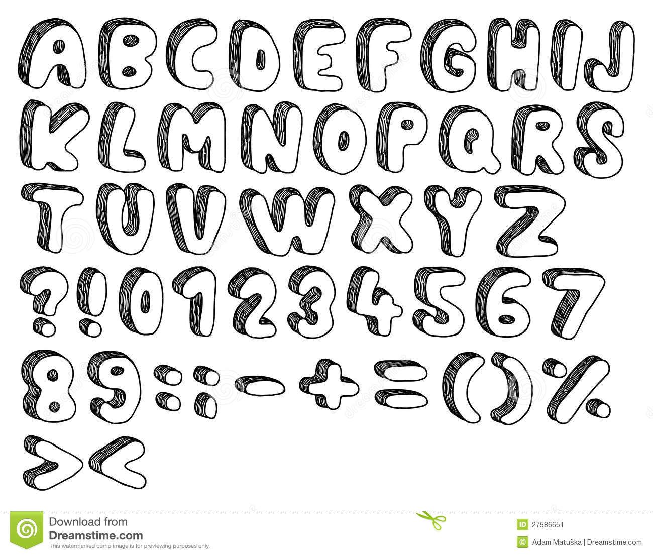 Doodle Font Stock Image Image 27586651