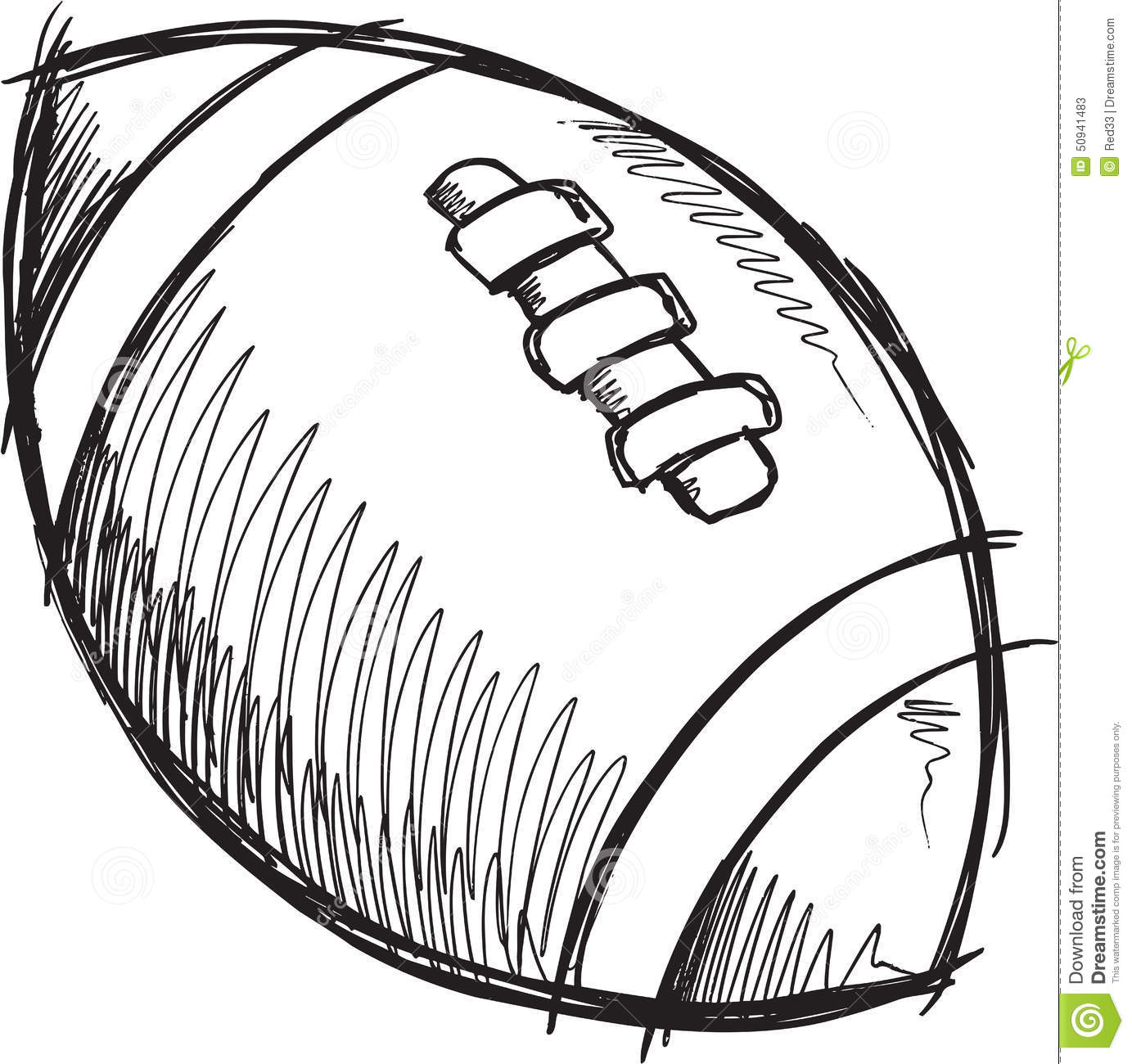 Line Drawing Football : Doodle football vector stock image
