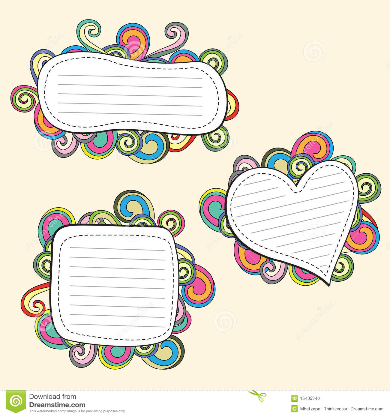 Doodle Frame Stock Photo - Image: 15405340