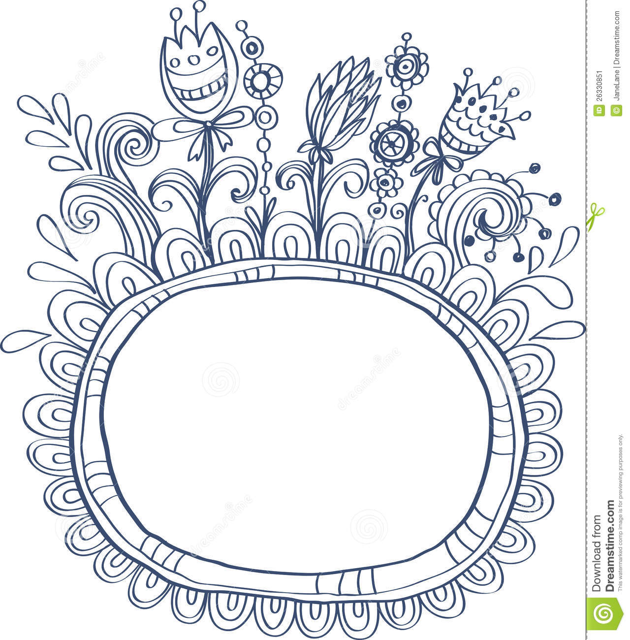 Decorative frames set download free vector art stock graphics - Doodle Frame With Birds And Flowers Stock Image Image