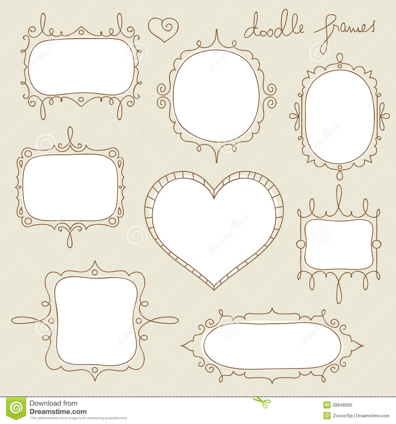 Doodle frames stock vector. Illustration of copy, design ...