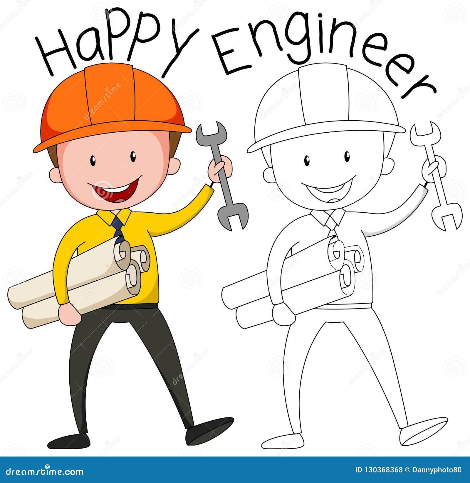 Doodle grafika inżynier