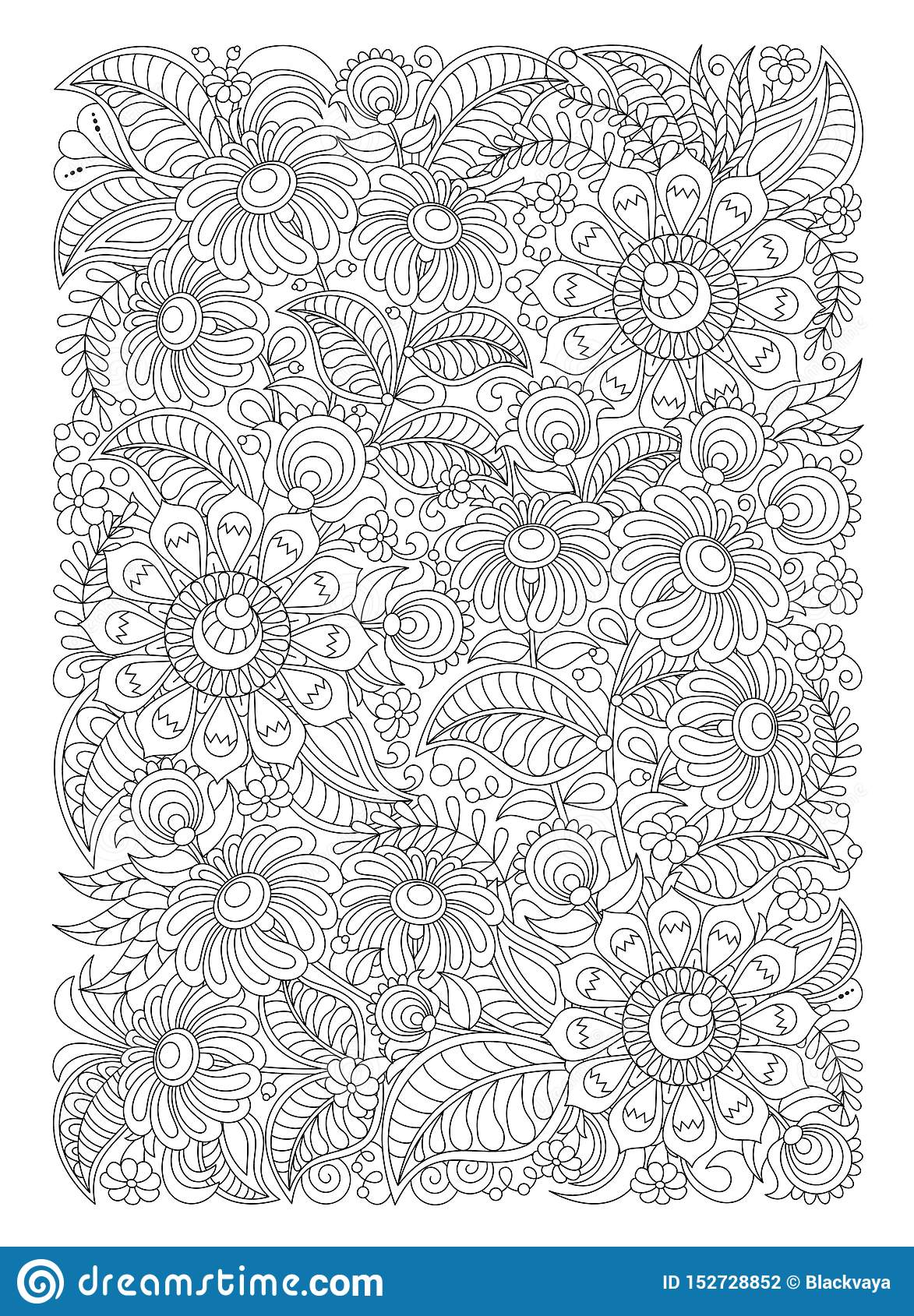 Abstract Zentangle Coloring Page Royalty Free Cliparts, Vectors ... | 1689x1173