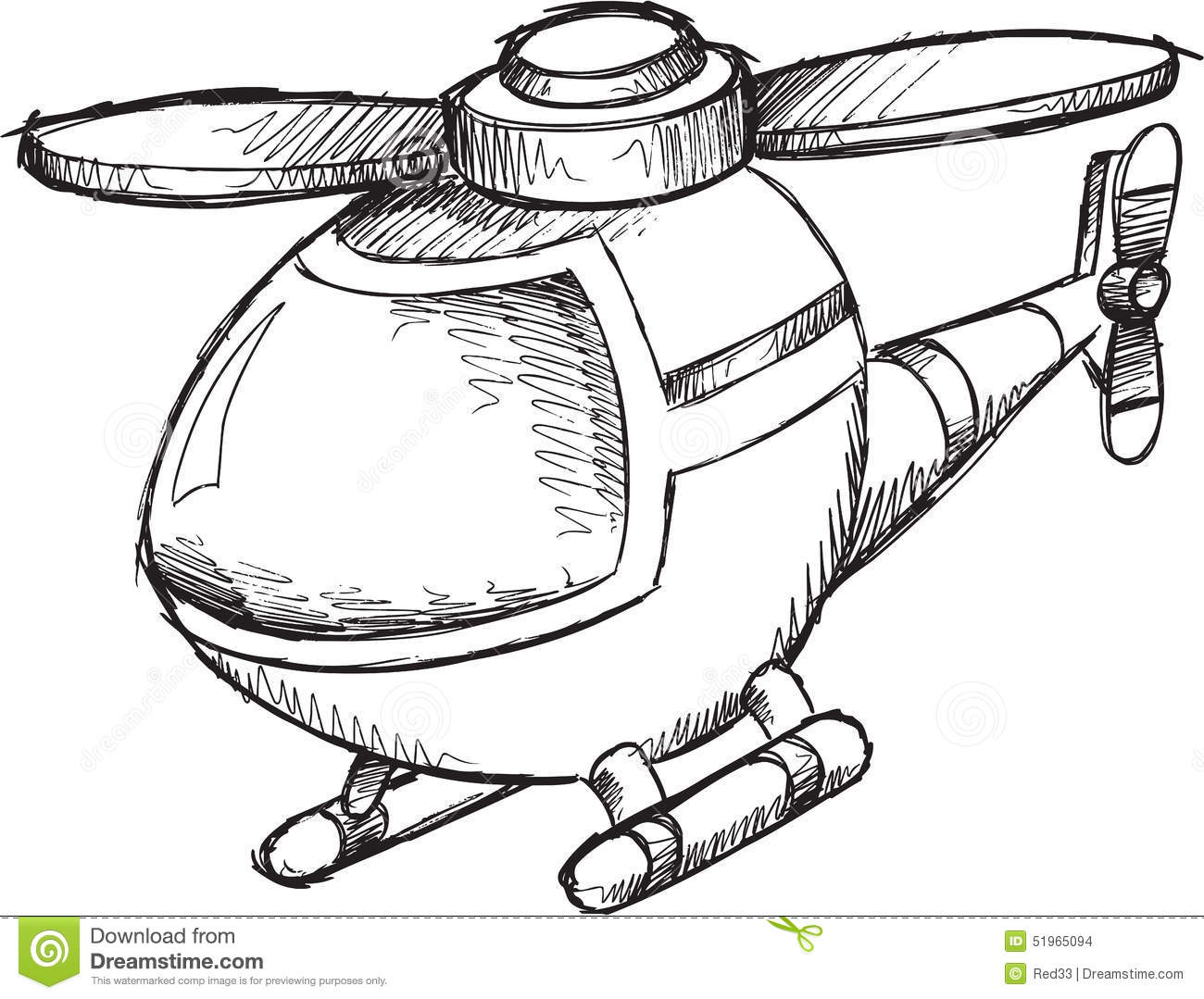Doodle Helicopter Vector stock vector  Illustration of illustration